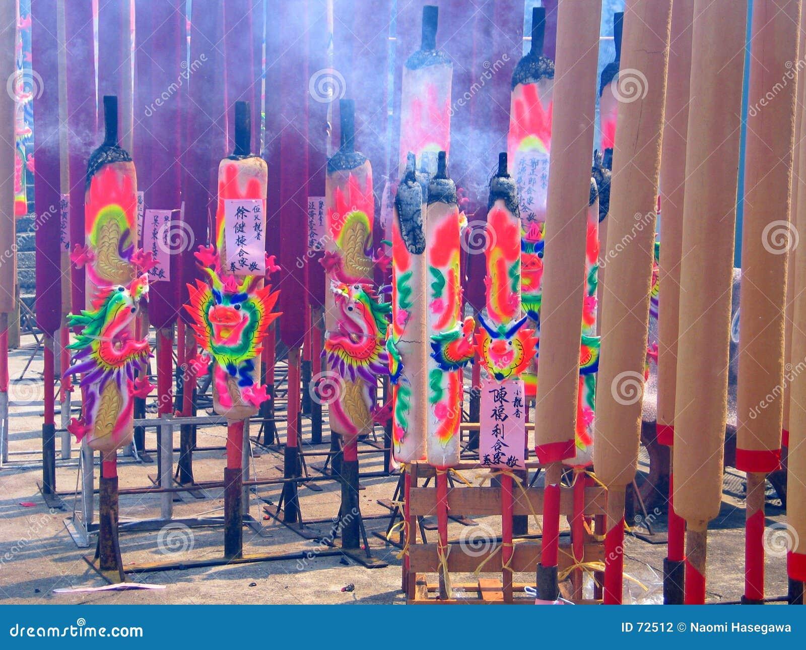 ραβδιά κινέζικων ειδώλων