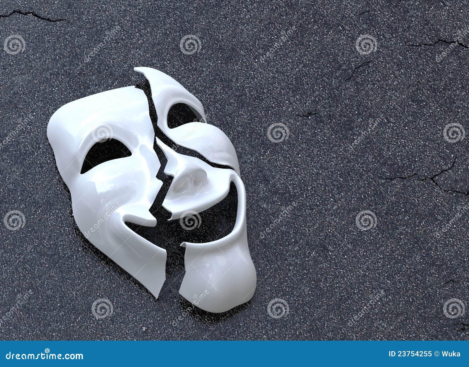 ραγισμένη μάσκα
