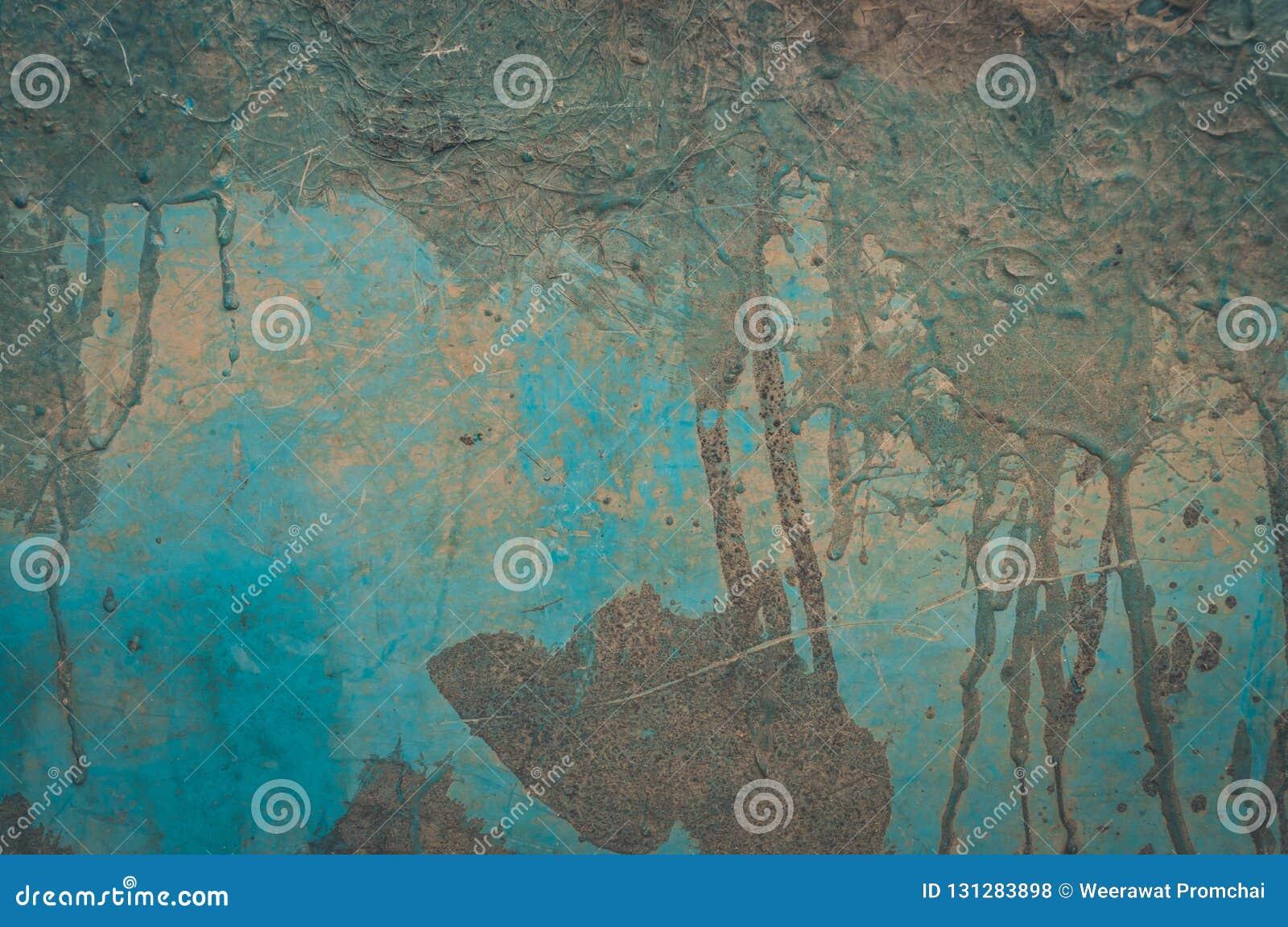Ραγισμένο και αποφλοίωσης υπόβαθρο τοίχων χρωμάτων παλαιό Κλασικό grunge Λεπτομέρεια, ξεπερασμένη