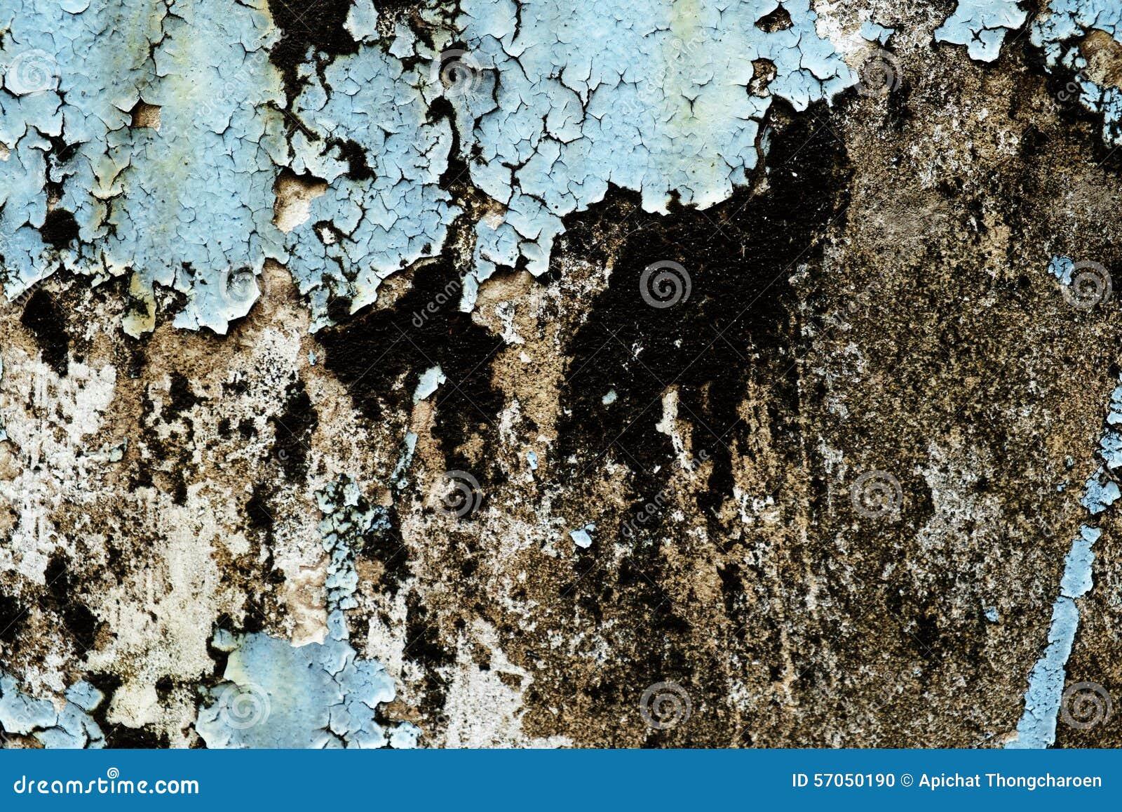 Ραγισμένο και χρώμα αποφλοίωσης και παλαιός τοίχος με τη σύσταση