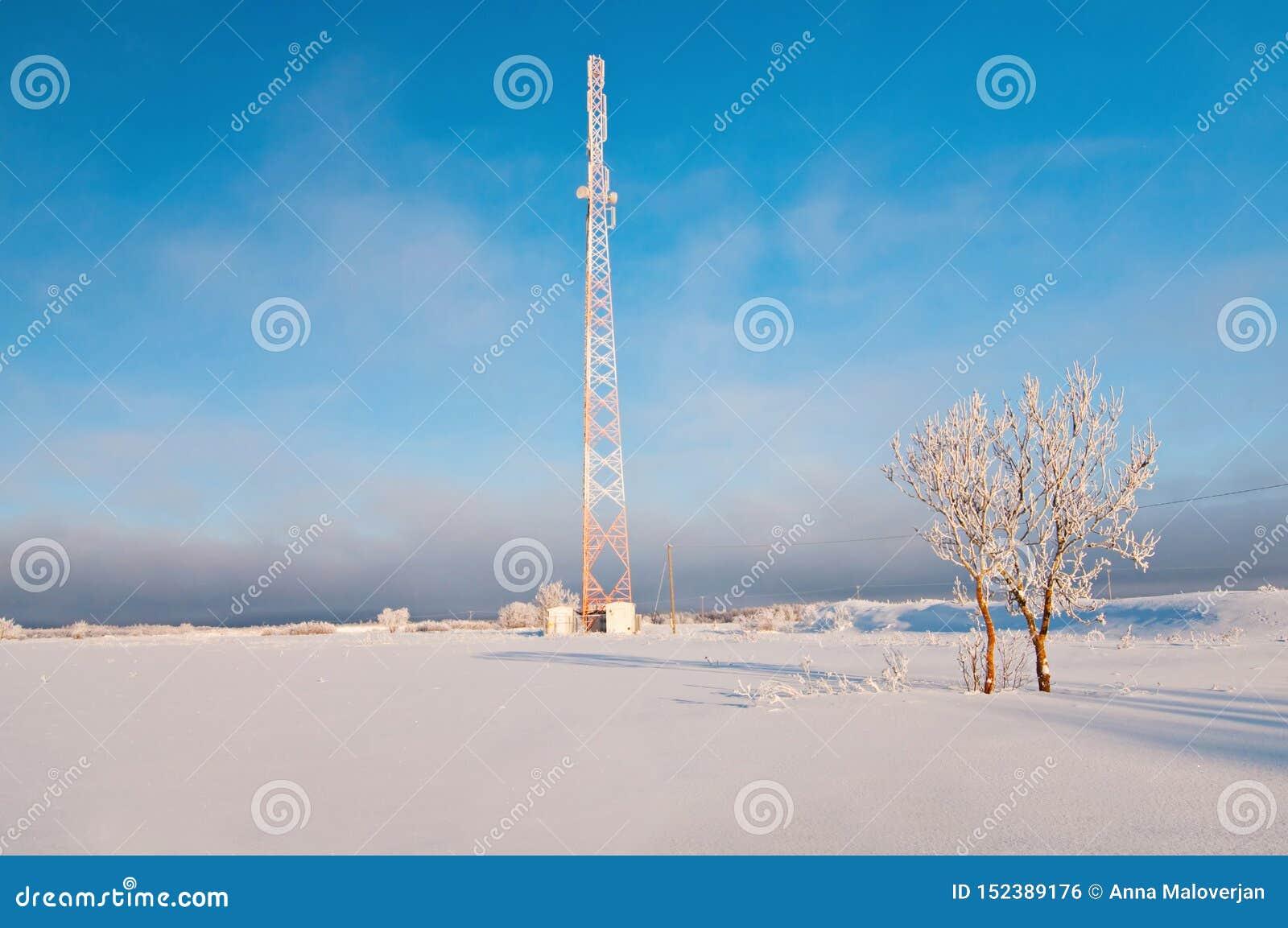 Ραδιο πύργος το χειμώνα