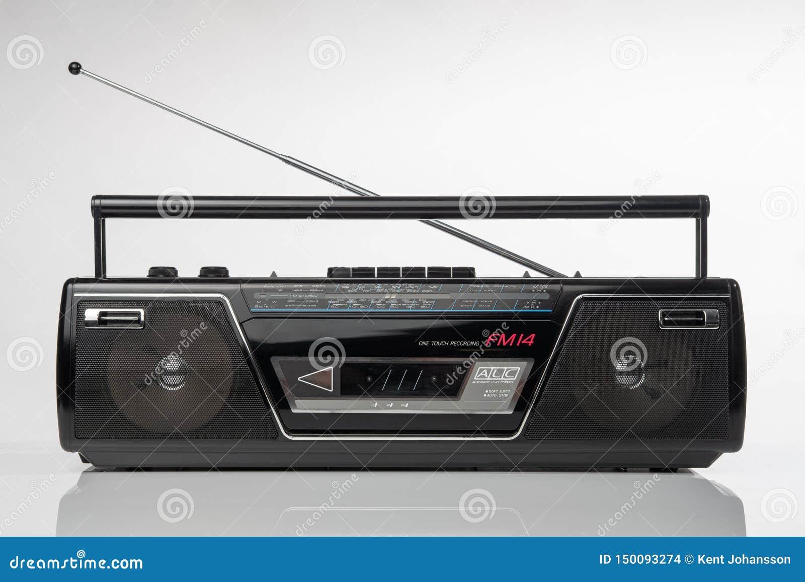 ραδιο φορέας κασετών ύφους της δεκαετίας του  80