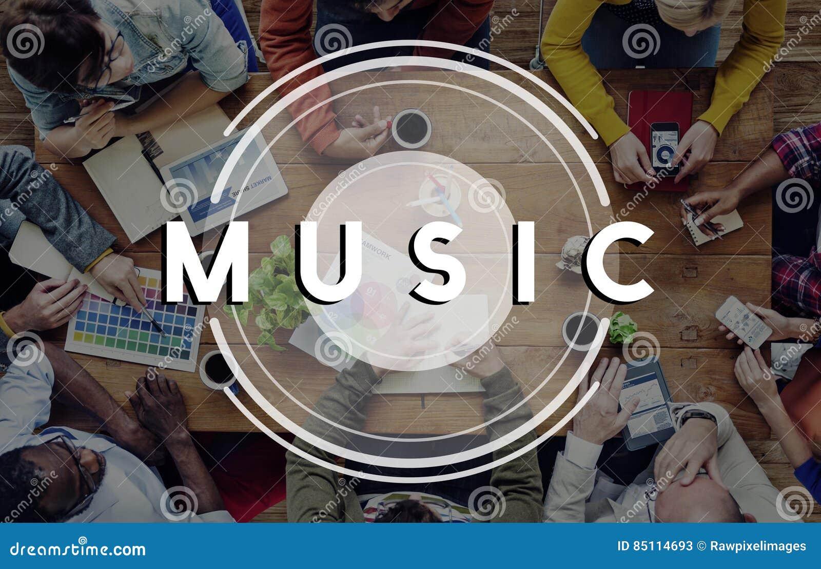 Ραδιο έννοια τρόπου ζωής κόμματος πολυμέσων μουσικής