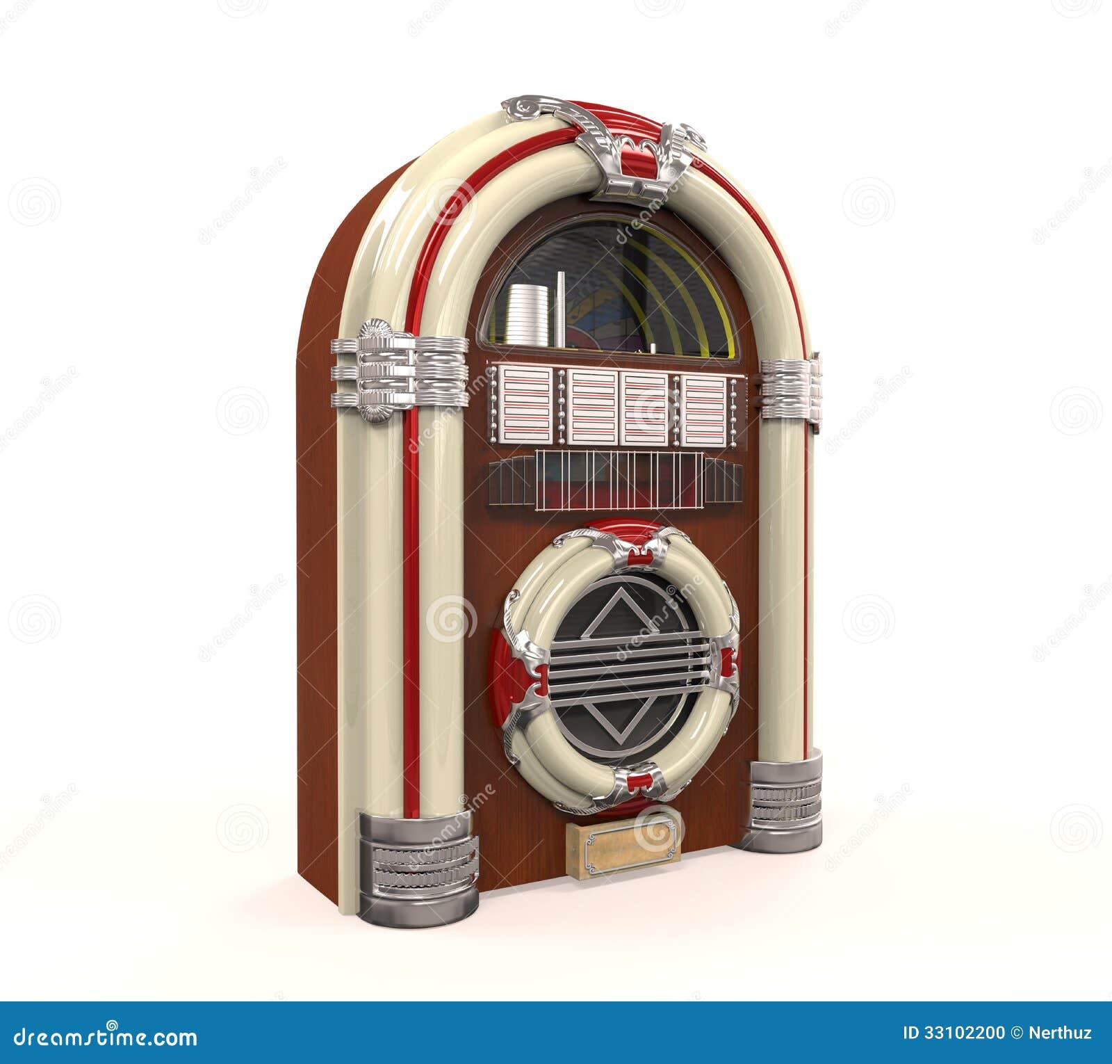 Ραδιόφωνο Jukebox που απομονώνεται