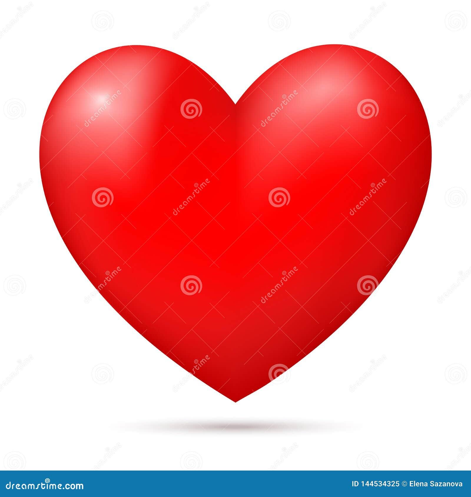 Ρεαλιστική κόκκινη τρισδιάστατη καρδιά