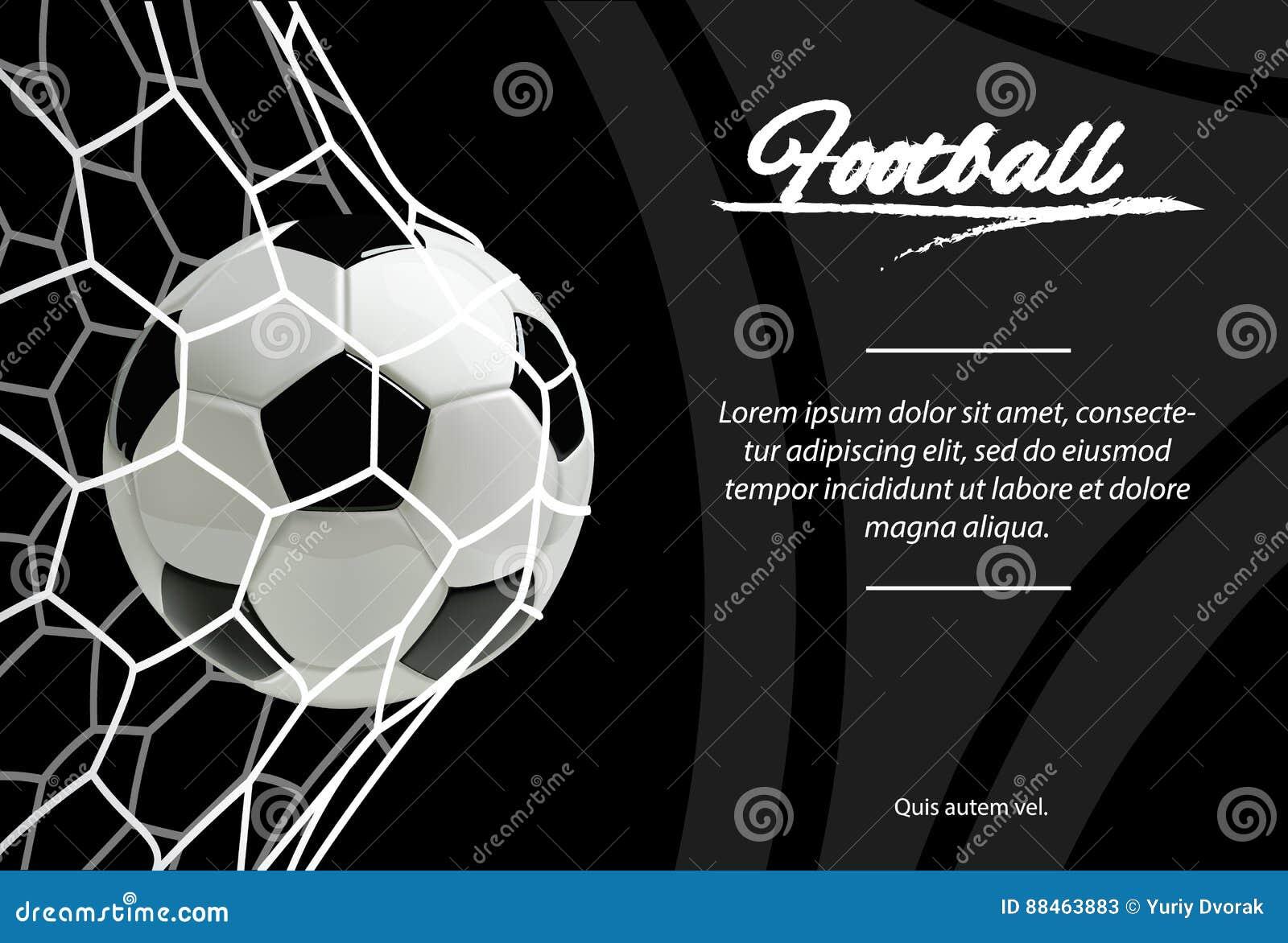 Ρεαλιστική σφαίρα ποδοσφαίρου σε καθαρό στο μαύρο υπόβαθρο Κλασική σφαίρα ποδοσφαίρου