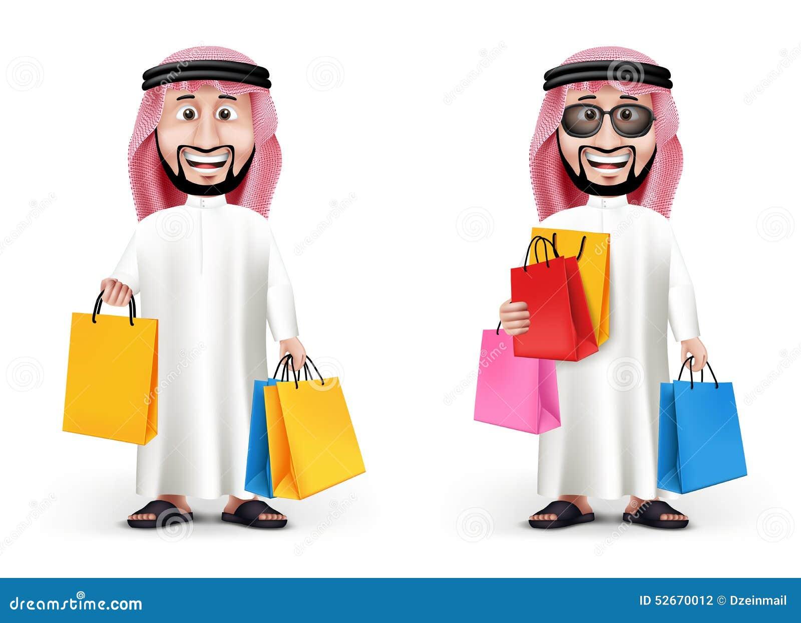 Ρεαλιστικός τρισδιάστατος όμορφος Σαουδάραβας - αραβικός χαρακτήρας ατόμων