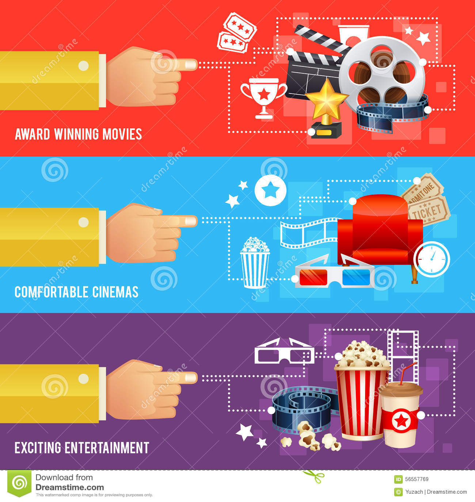 Download Ρεαλιστικό πρότυπο αφισών κινηματογράφων κινηματογράφων Στοκ Εικόνα - εικόνα από ταινία, μάρκετινγκ: 56557769