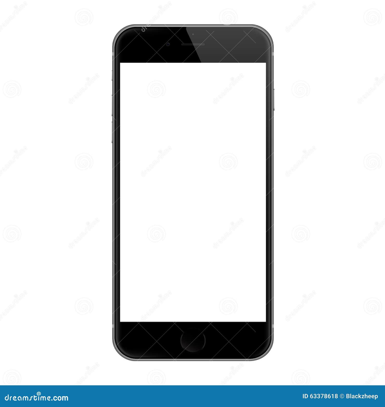 Ρεαλιστικό iphone 6 κενό διανυσματικό σχέδιο οθόνης, iphone 6 που αναπτύσσεται από τη Apple Inc
