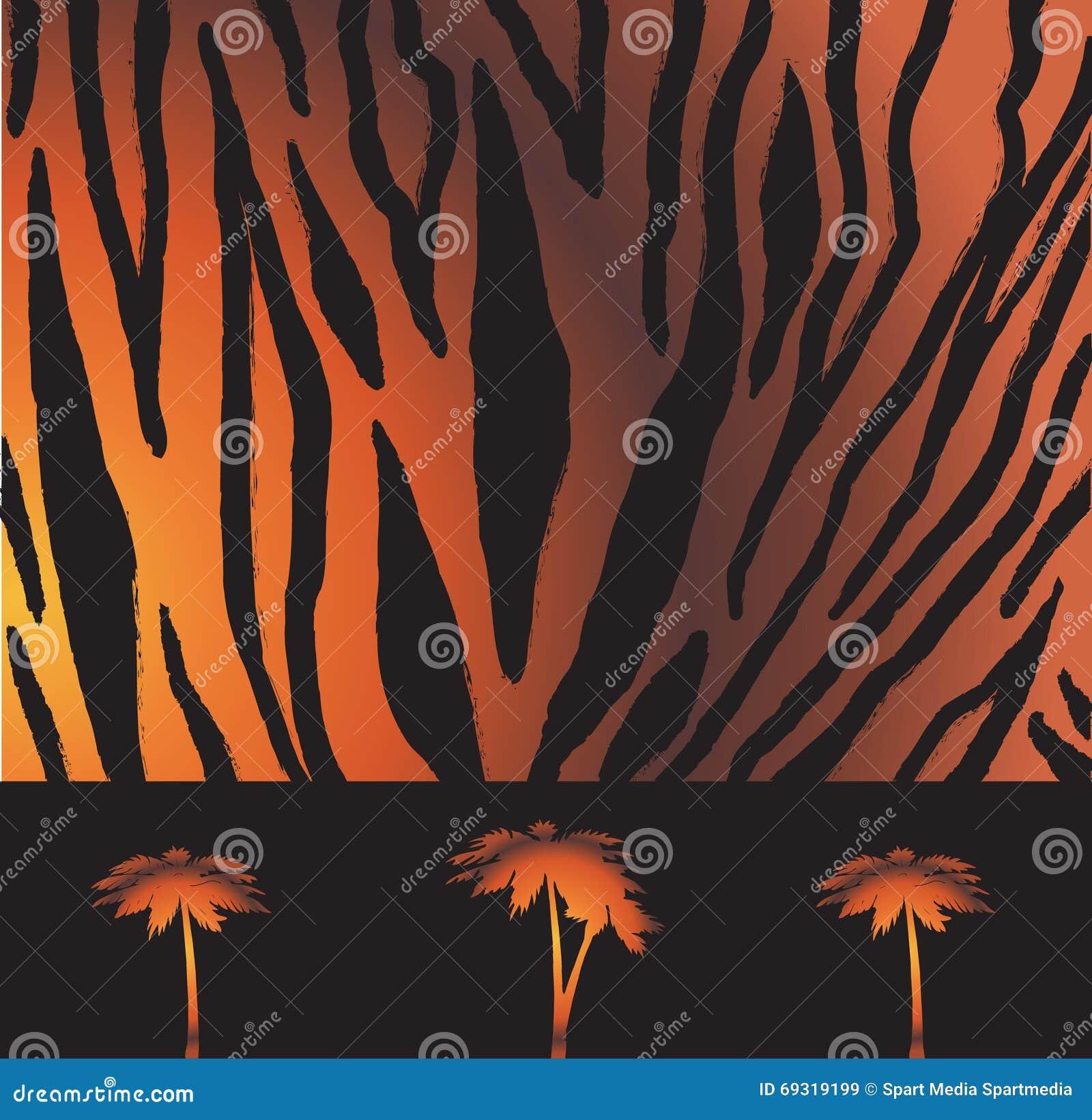 Ριγωτό σχέδιο τιγρών