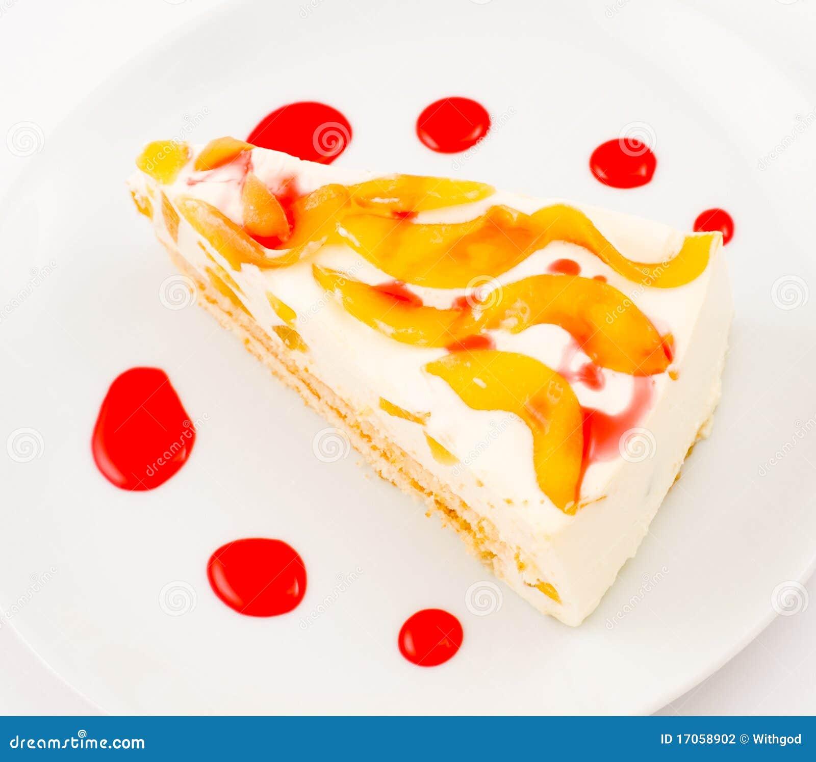 ροδάκινο τυριών κέικ