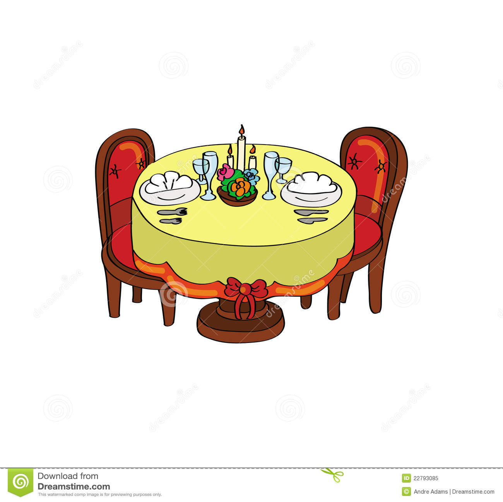 ρομαντικός πίνακας γευμάτων