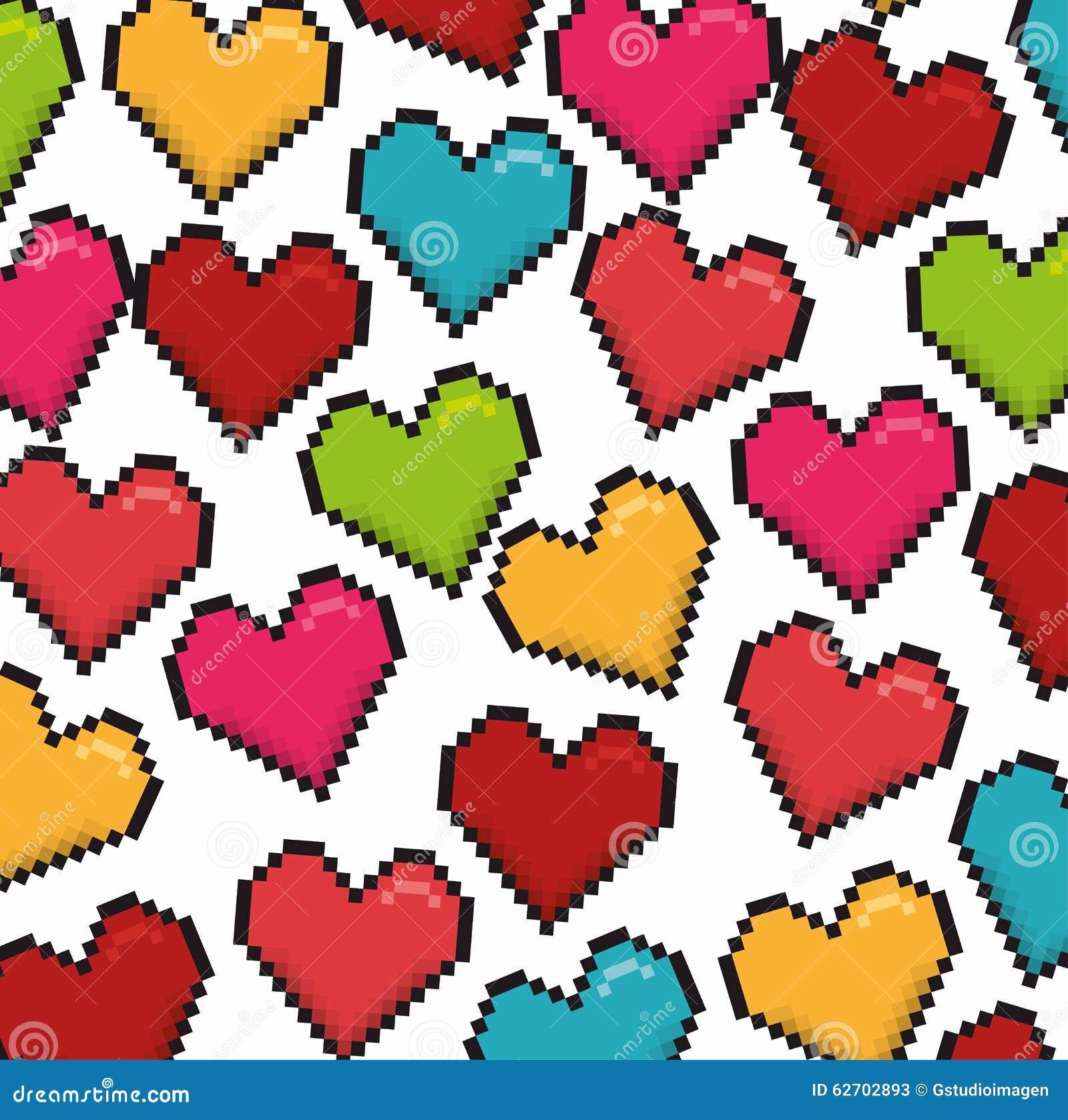 Ρομαντικό ζωηρόχρωμο σχέδιο καρτών με τις ζωηρόχρωμες καρδιές