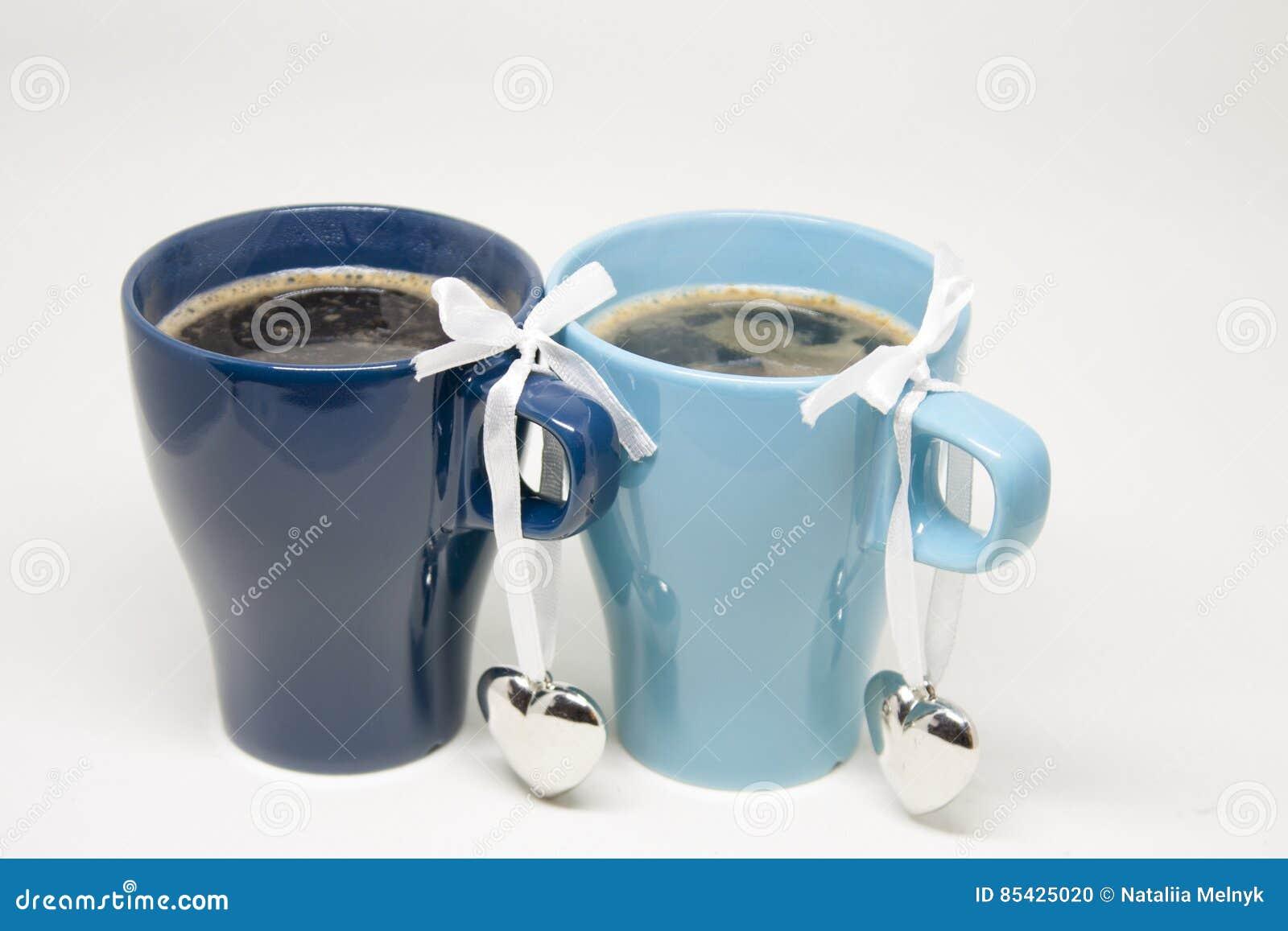 Ρομαντικό πρωί Καυτός καφές για δύο