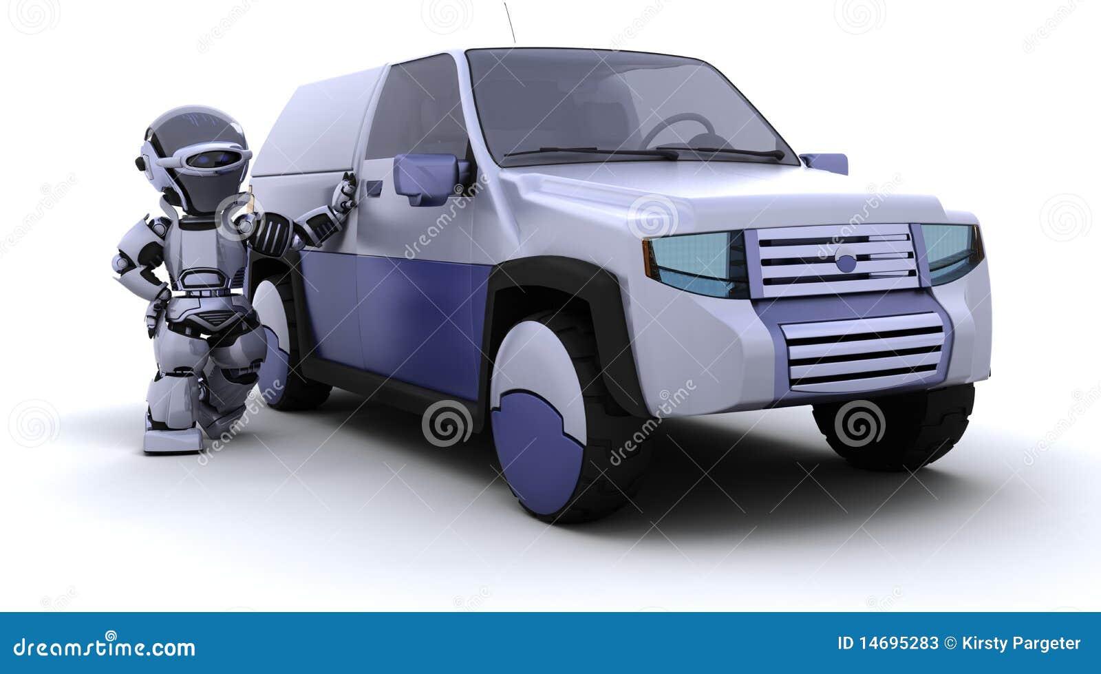 ρομπότ έννοιας αυτοκινήτω&