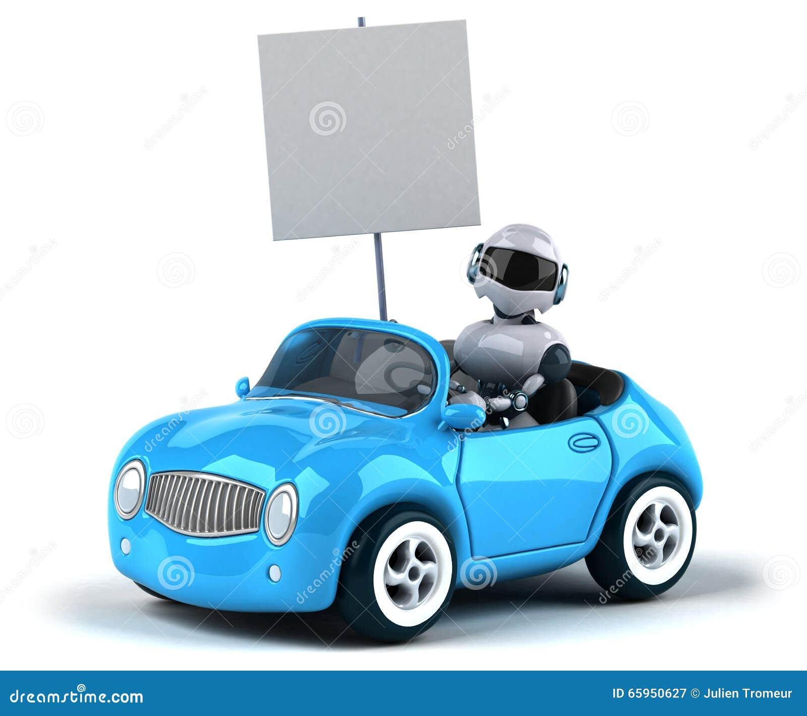 Ρομπότ και αυτοκίνητο