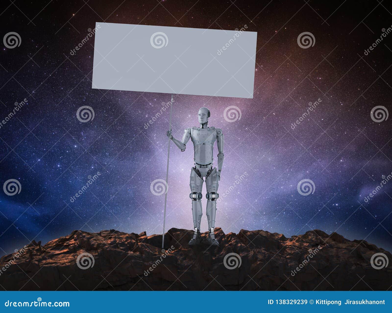 Ρομπότ με το κενό έμβλημα