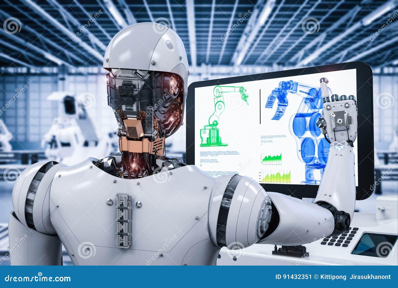 Ρομπότ που λειτουργεί στο εργοστάσιο