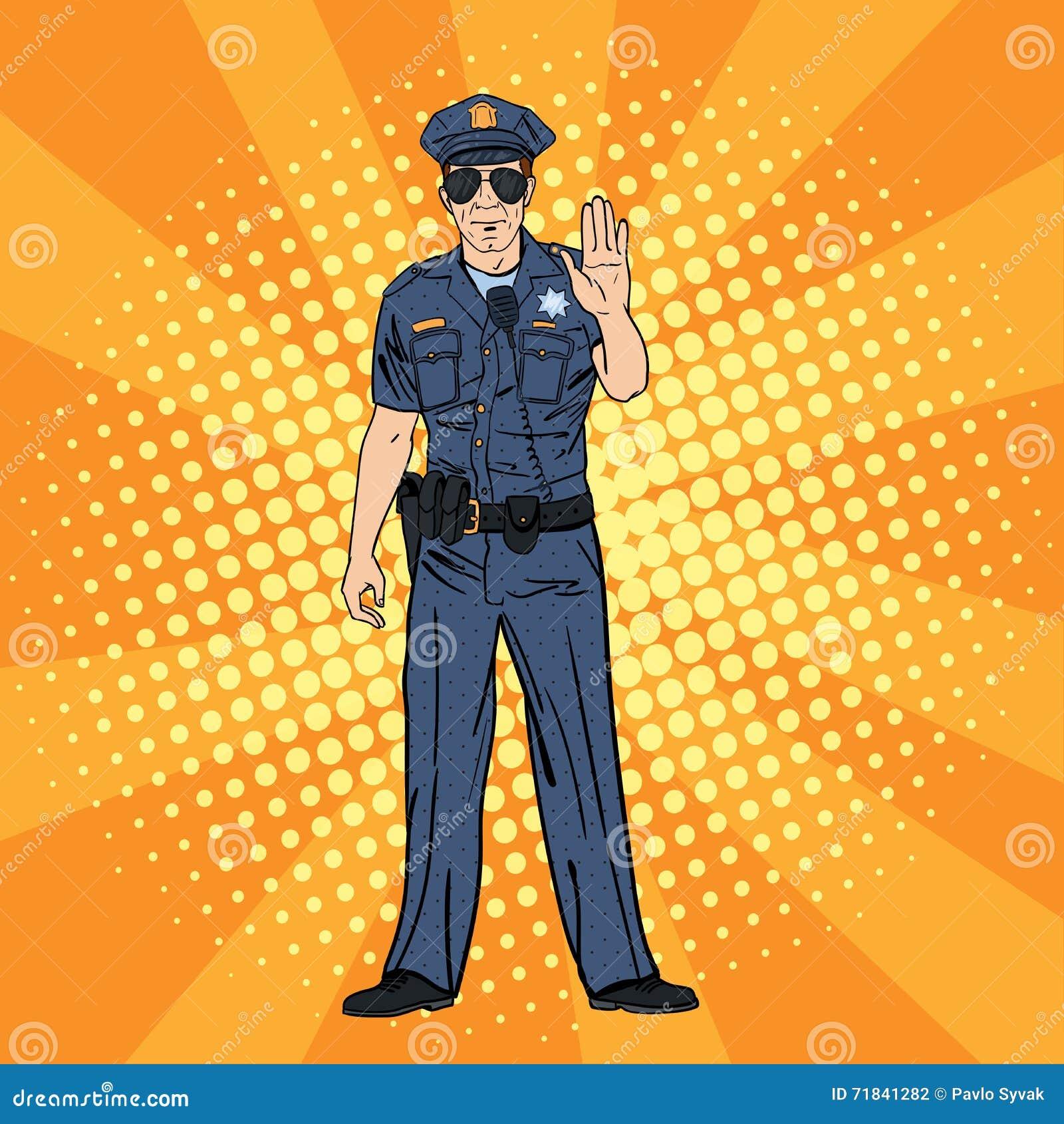 δροσερός αστυνομικός Σοβαρός αστυνομικός Λαϊκή τέχνη