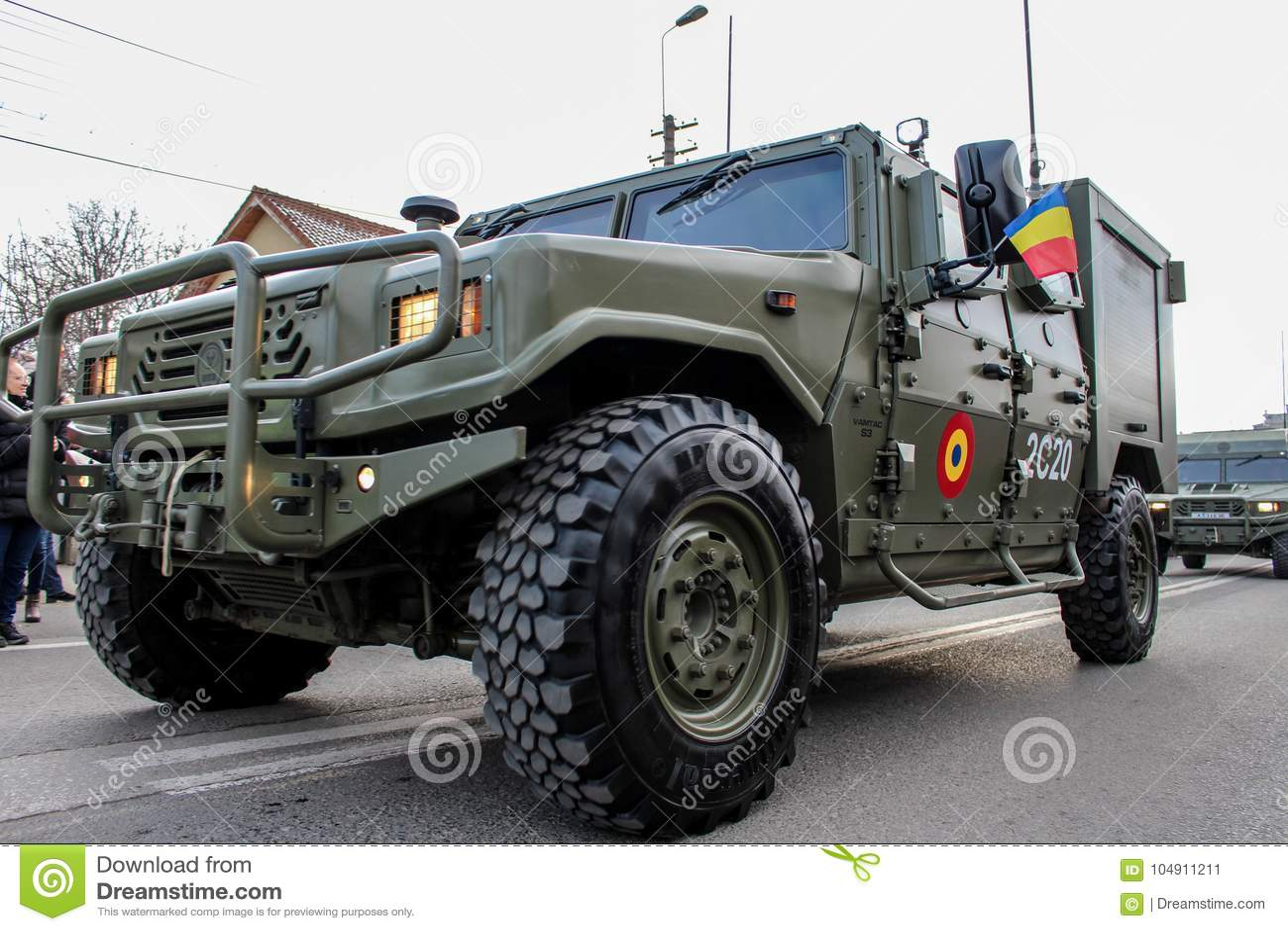 Ρουμανικός στρατός παρελάσεων εθνικής μέρας στρατιωτικός vehicule