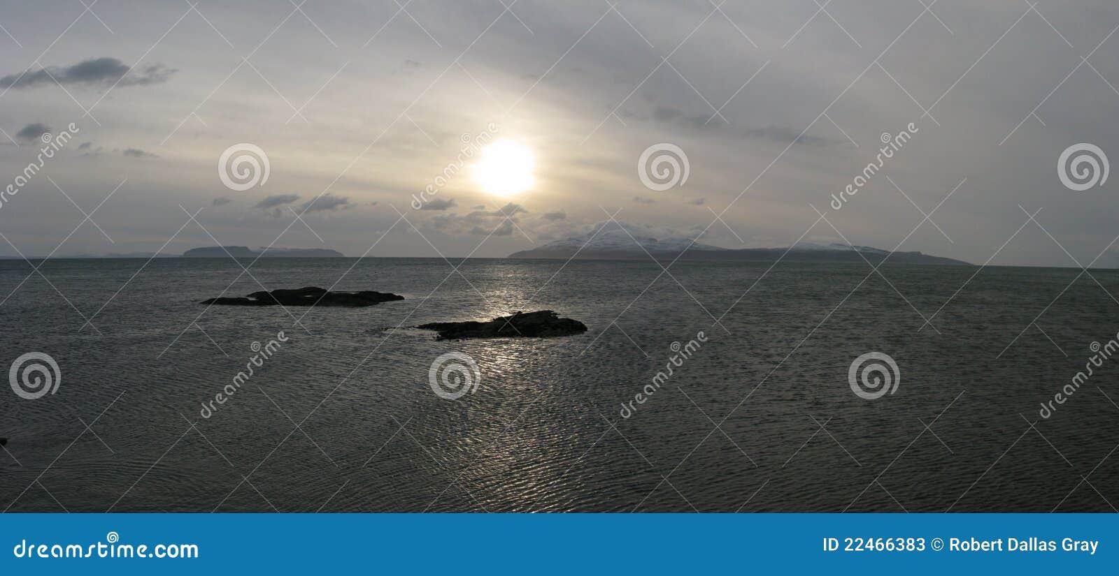 ρούμι Σκωτία νησιών νησιών canna skye
