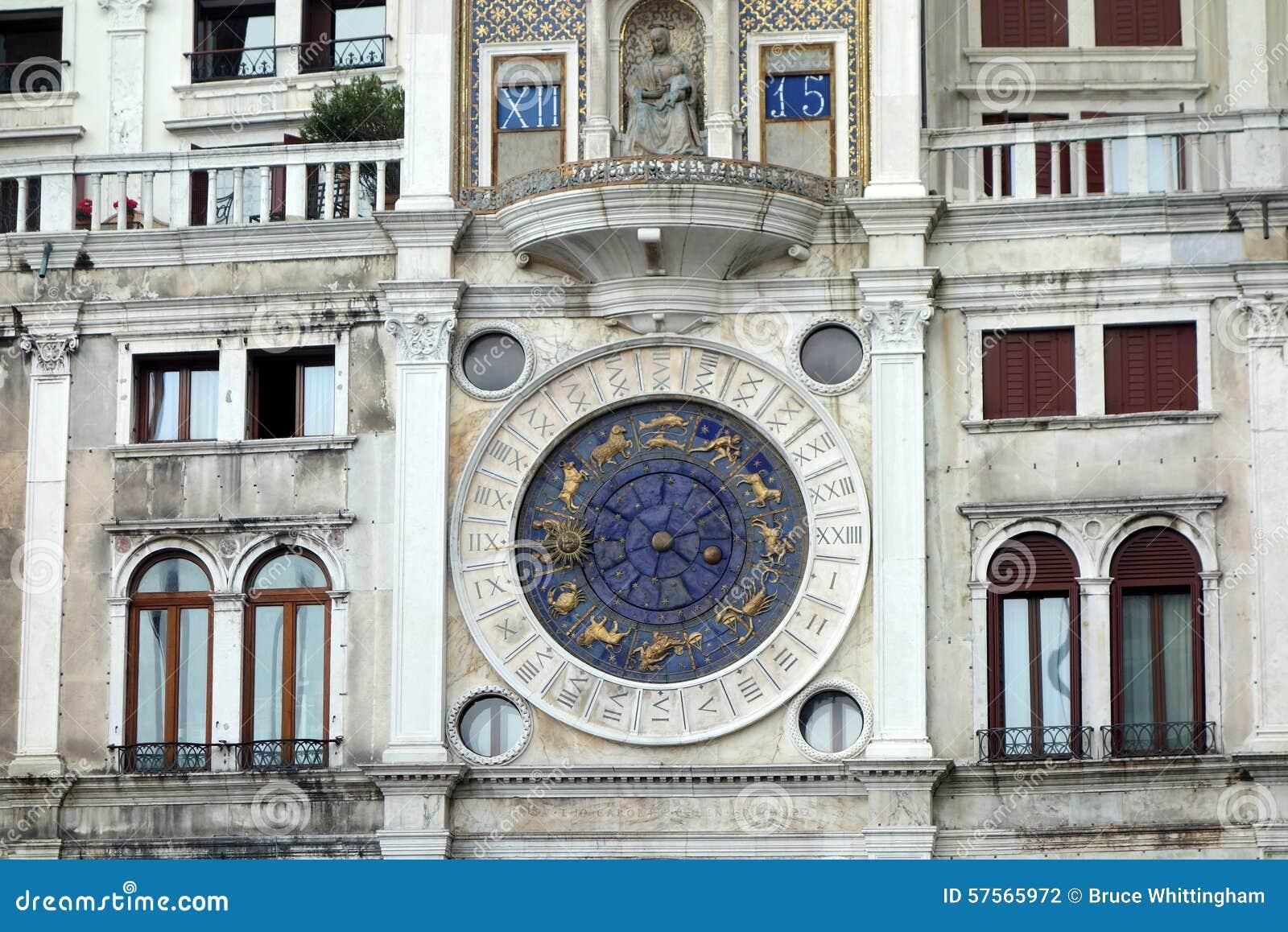 Ρολόι του σημαδιού Αγίου, Βενετία