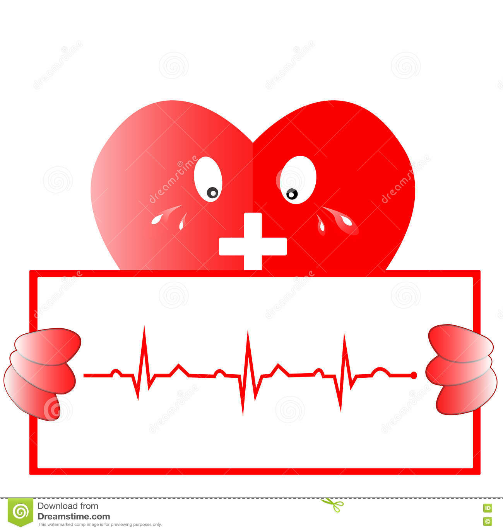 Ρυθμός καρδιών ekg Εικονίδιο καρδιών με τη γραμμή ekg, διανυσματικό σχέδιο