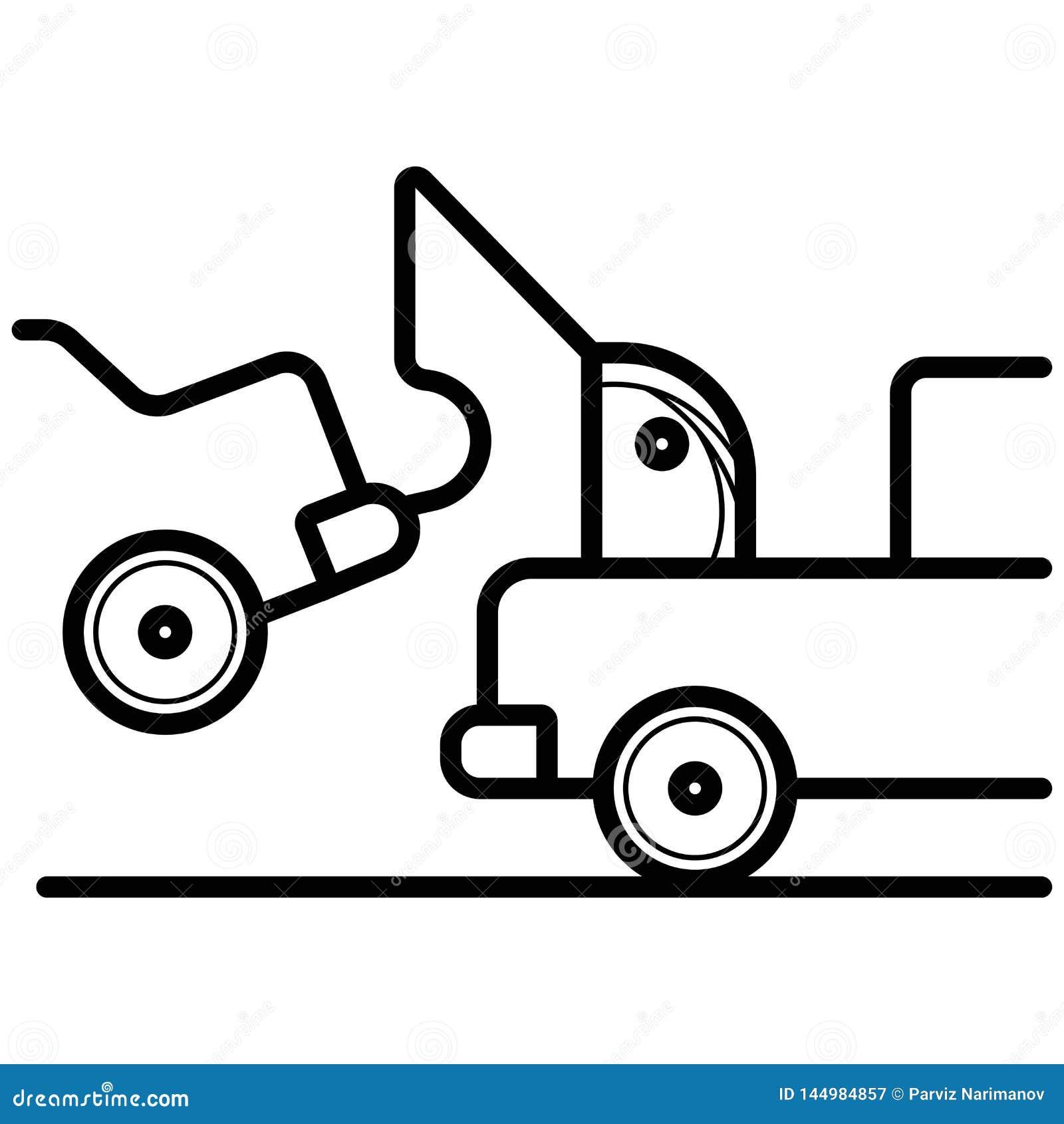 Ρυμουλκώντας εικονίδιο φορτηγών αυτοκινήτων r
