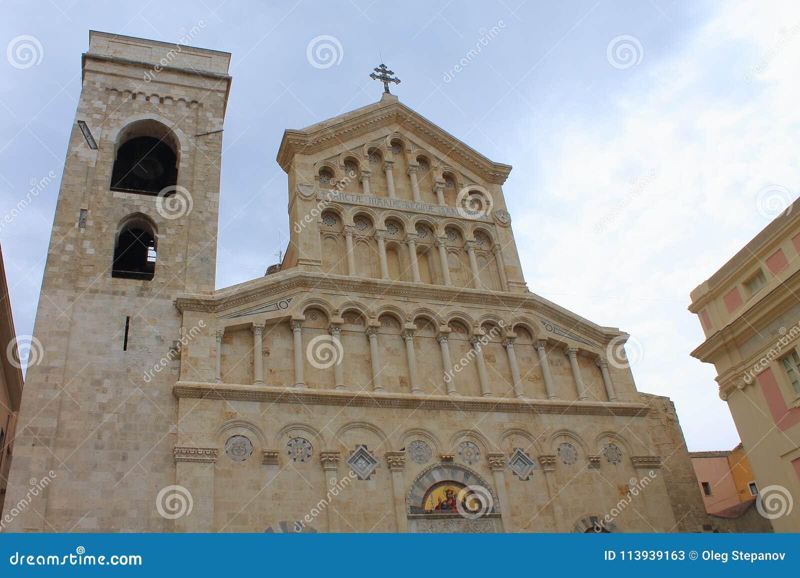 Ρωμαίος - καθολικός καθεδρικός ναός στο Κάλιαρι Σαρδηνία Ιταλία
