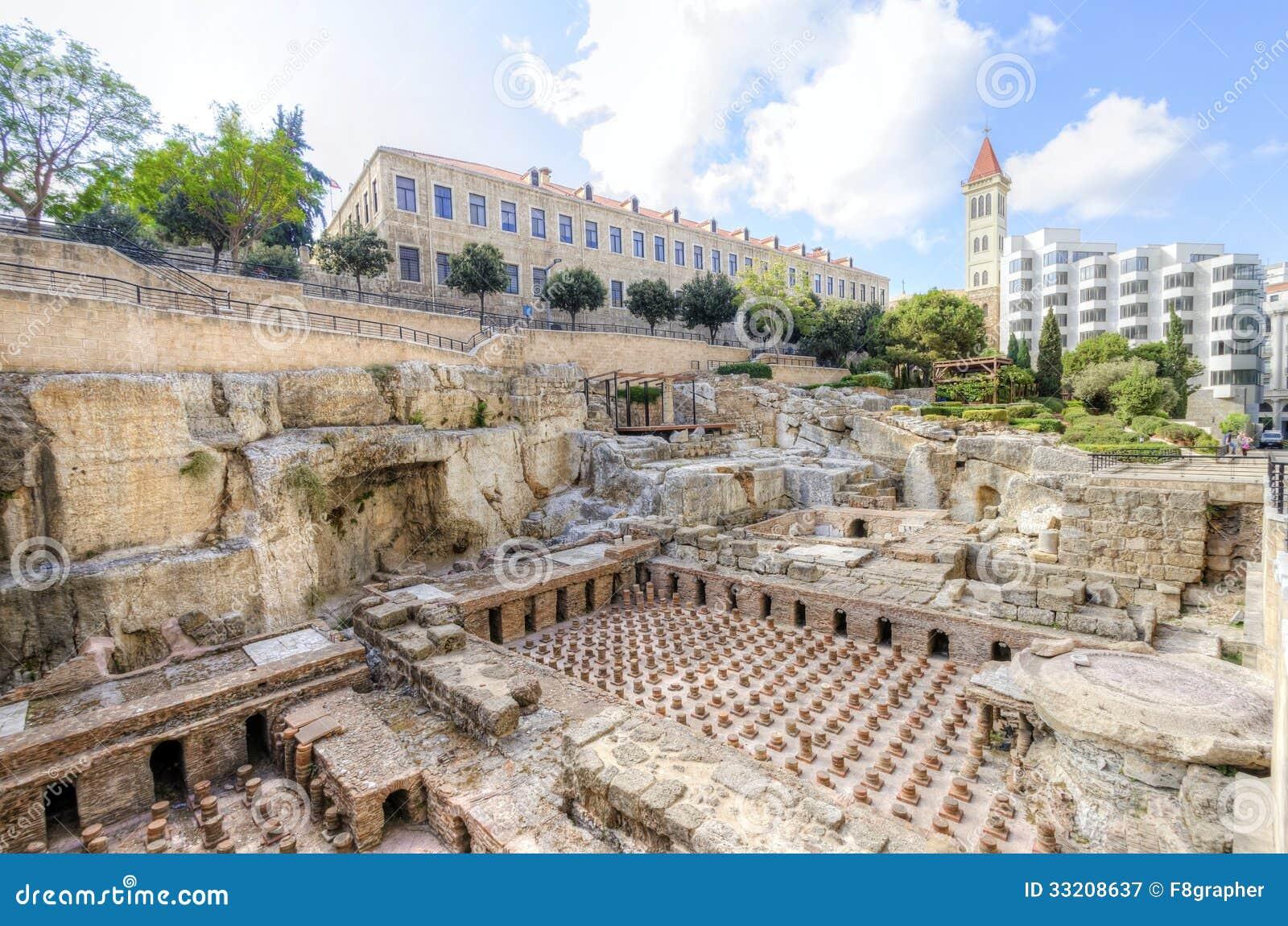 Ρωμαϊκά λουτρά στη Βηρυττό, Λίβανος