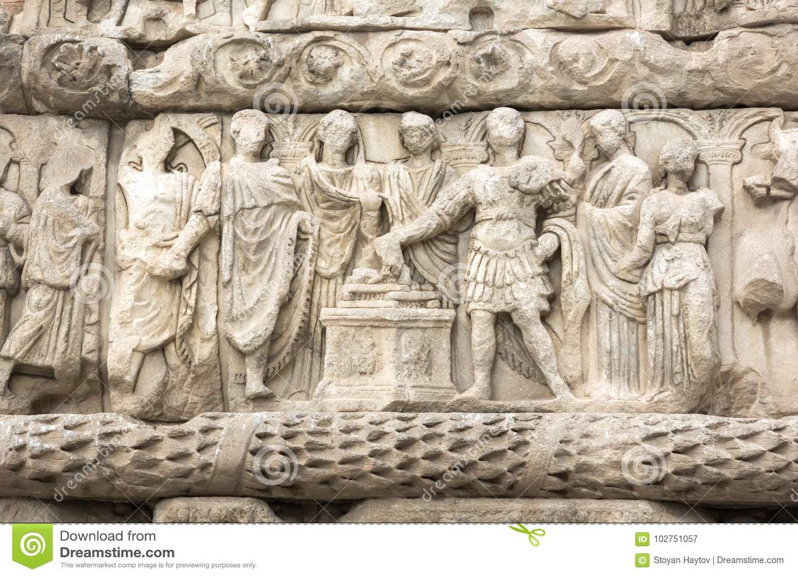 Ρωμαϊκή αψίδα Galerius στο κέντρο της πόλης Θεσσαλονίκης, κεντρική Μακεδονία, Ελλάδα