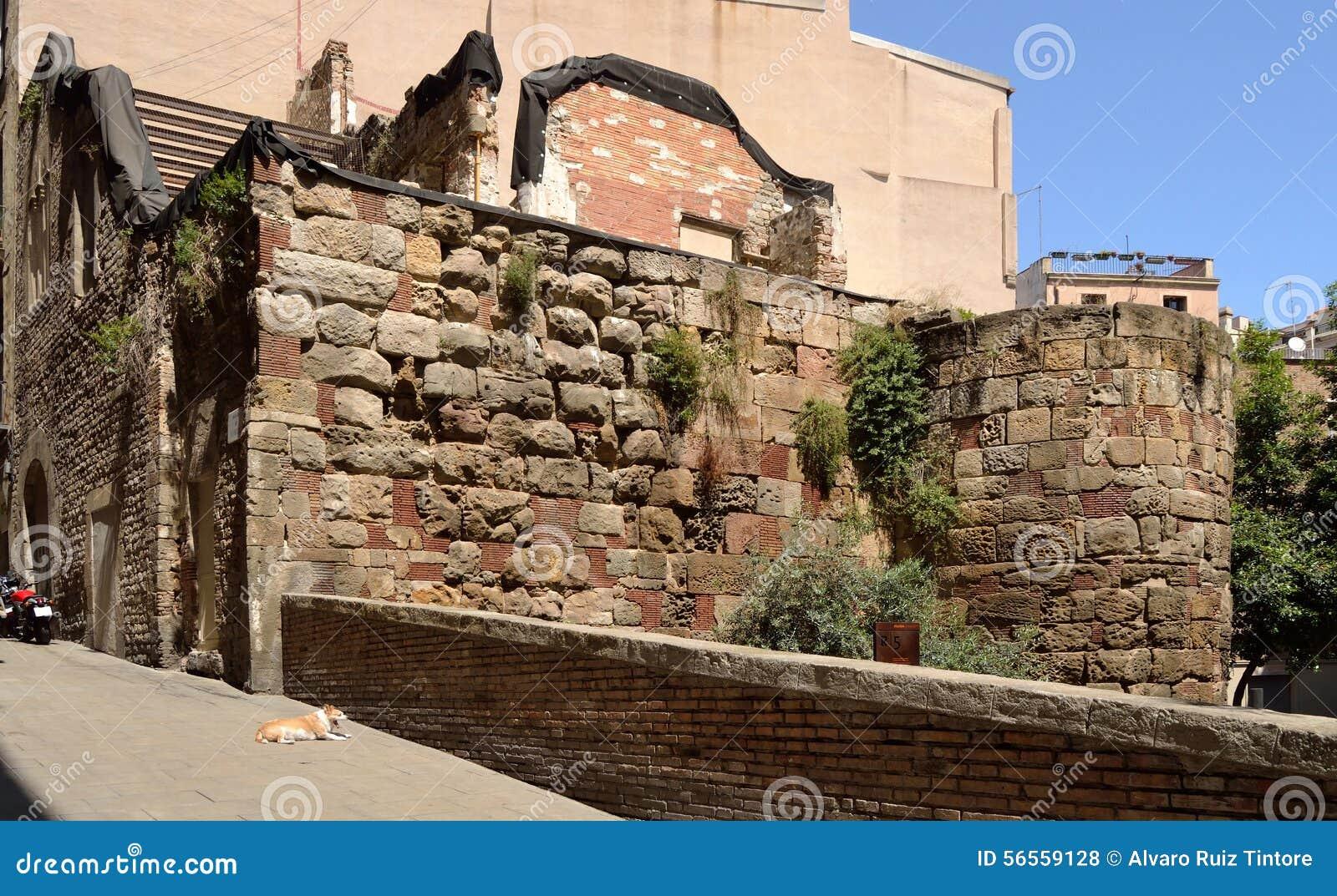 Download ρωμαϊκός τοίχος της Βαρκ&epsilo Στοκ Εικόνες - εικόνα από τοίχος, torre: 56559128