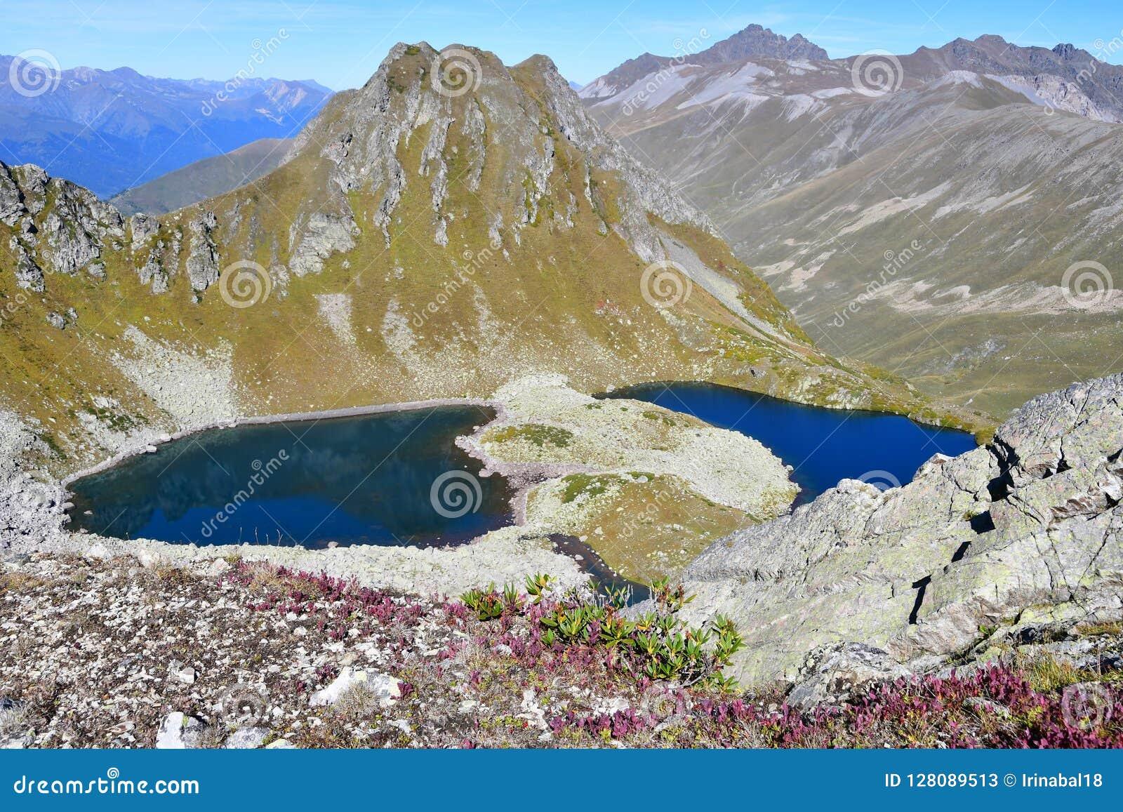 Ρωσία, Arkhyz Λίμνες Zagedanskiye Zagedan το Σεπτέμβριο