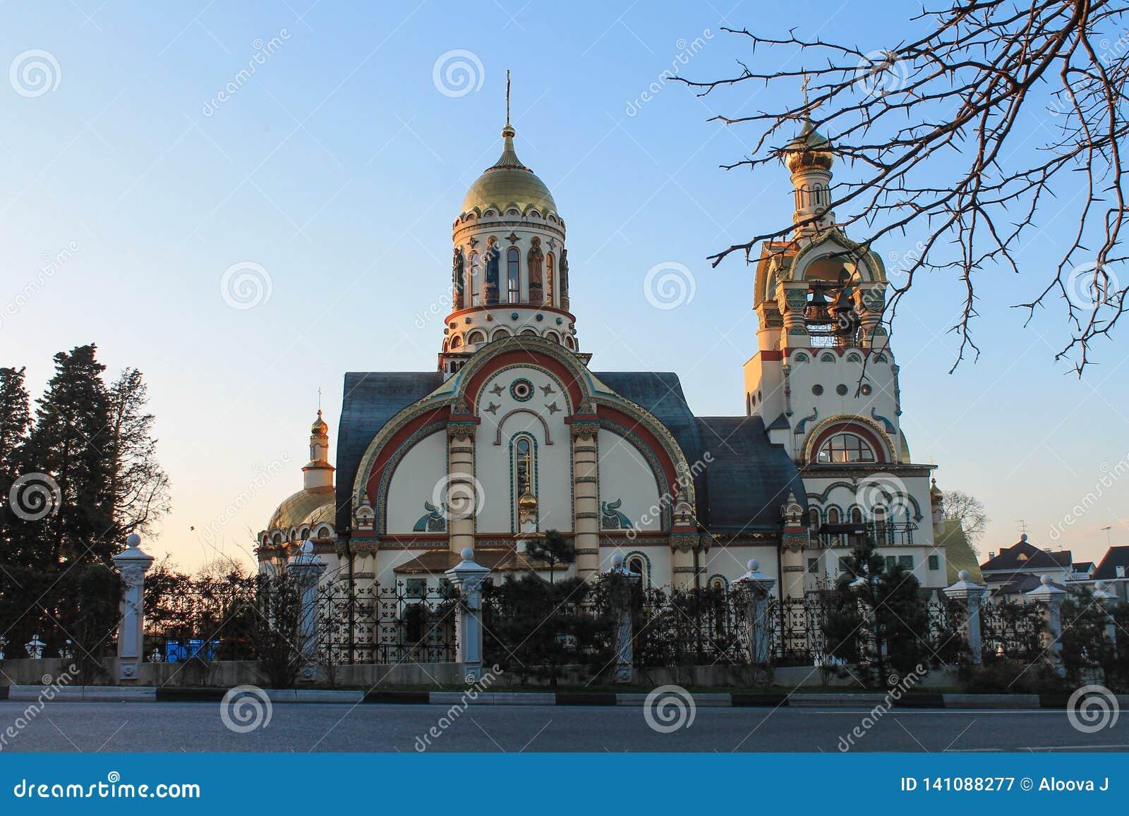 Ρωσία, Sochi, 25, τον Ιανουάριο του 2015: Η εκκλησία του ST Βλαντιμίρ