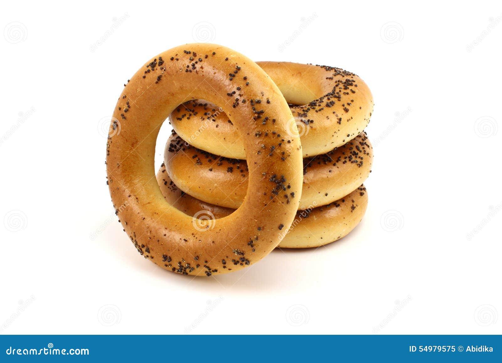 Ρωσικά φρέσκα bagels παπαρουνών