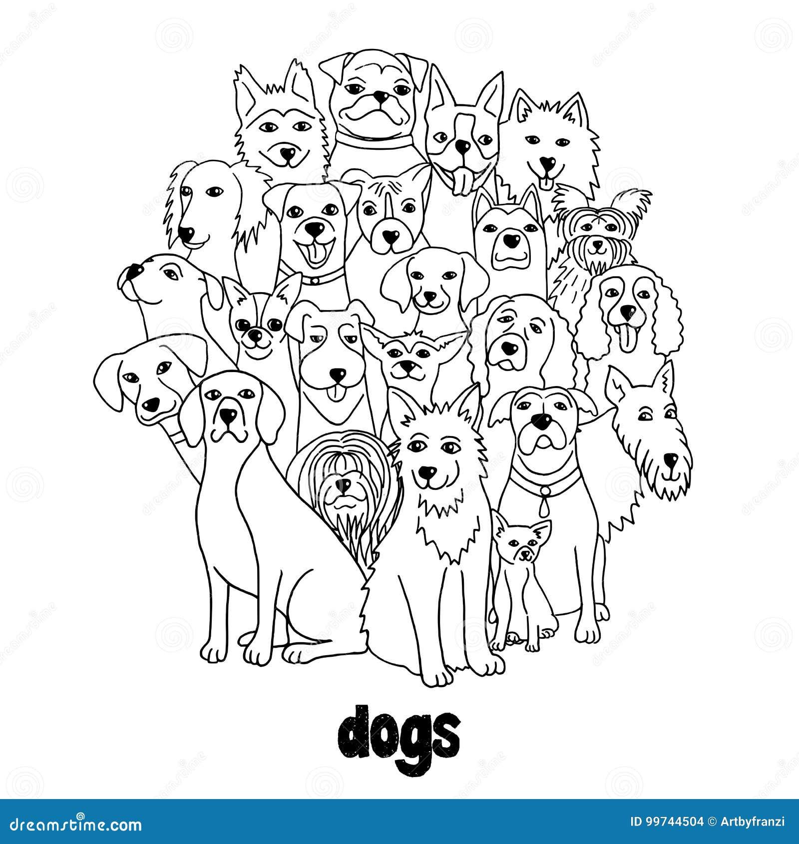 ρωσικός κόσμος αγριοτήτων φύσης ομάδας σκυλιών
