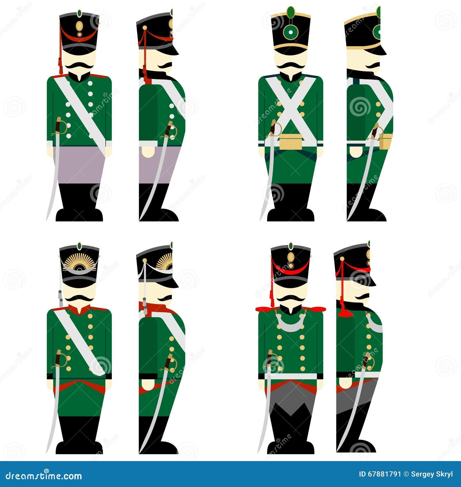 577239d5378 Ρωσικός στρατός στρατιωτικών στολών το 1812 Διανυσματική απεικόνιση ...