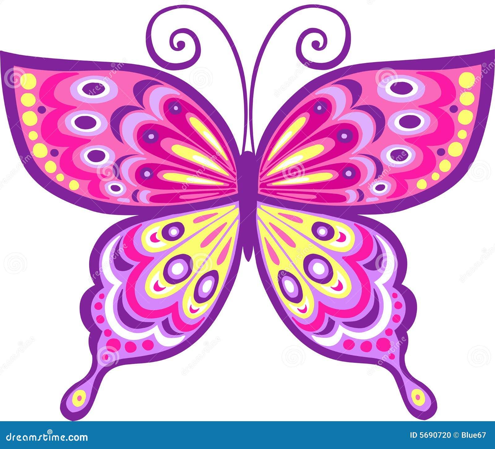 ρόδινο διάνυσμα απεικόνισης πεταλούδων