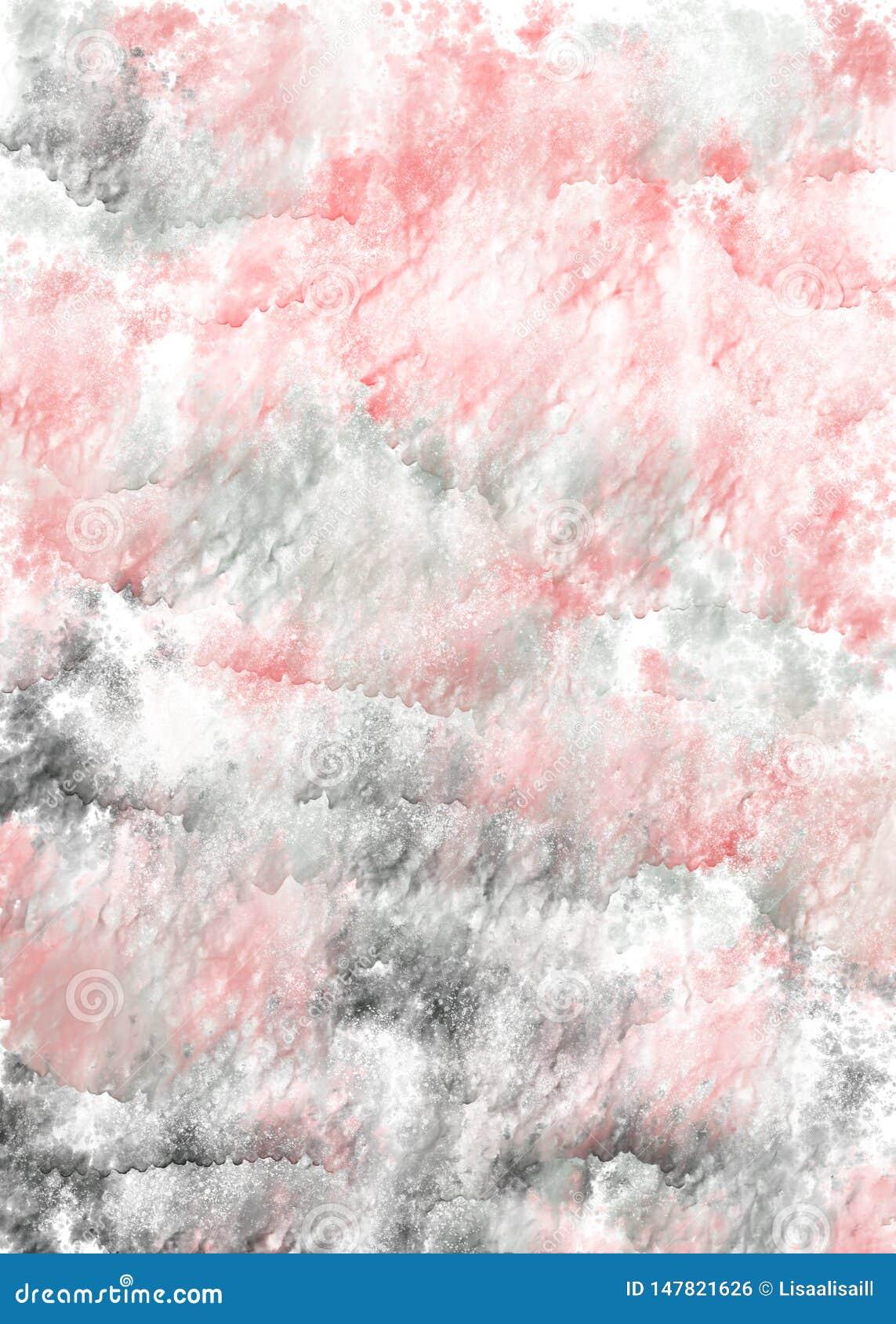 Ρόδινο και γκρίζο κάθετο υπόβαθρο watercolor Το χέρι σύρει το σκηνικό watercolor με το ρέοντας χρώμα και το νερό Επίδραση