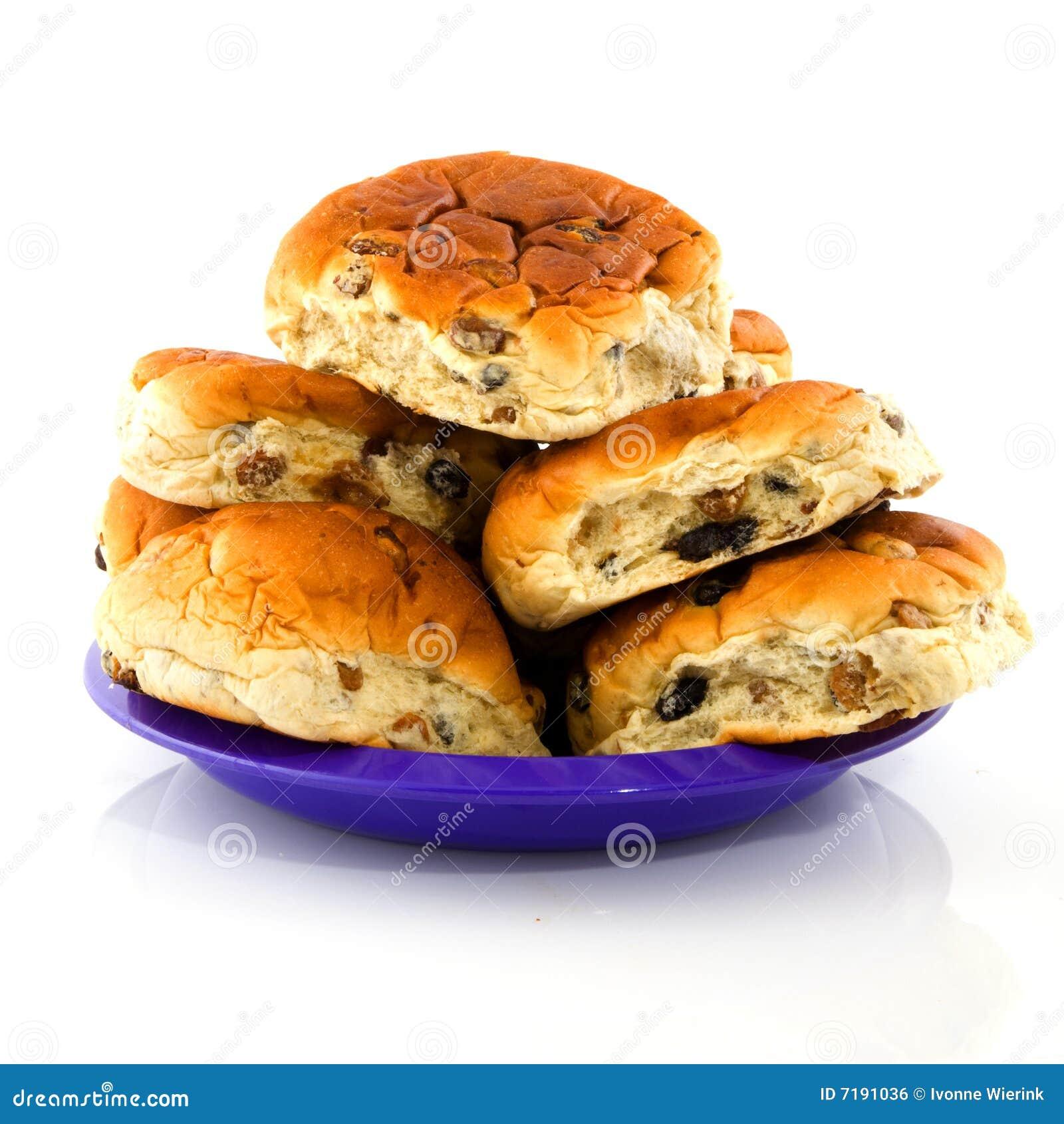 ρόλοι πιάτων σταφίδων ψωμι&omicr