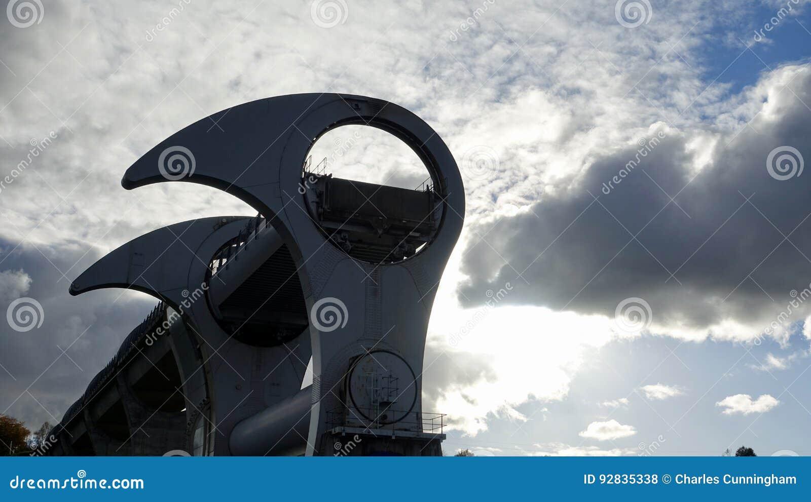 Ρόδα Falkirk Μοναδικός ανελκυστήρας βαρκών