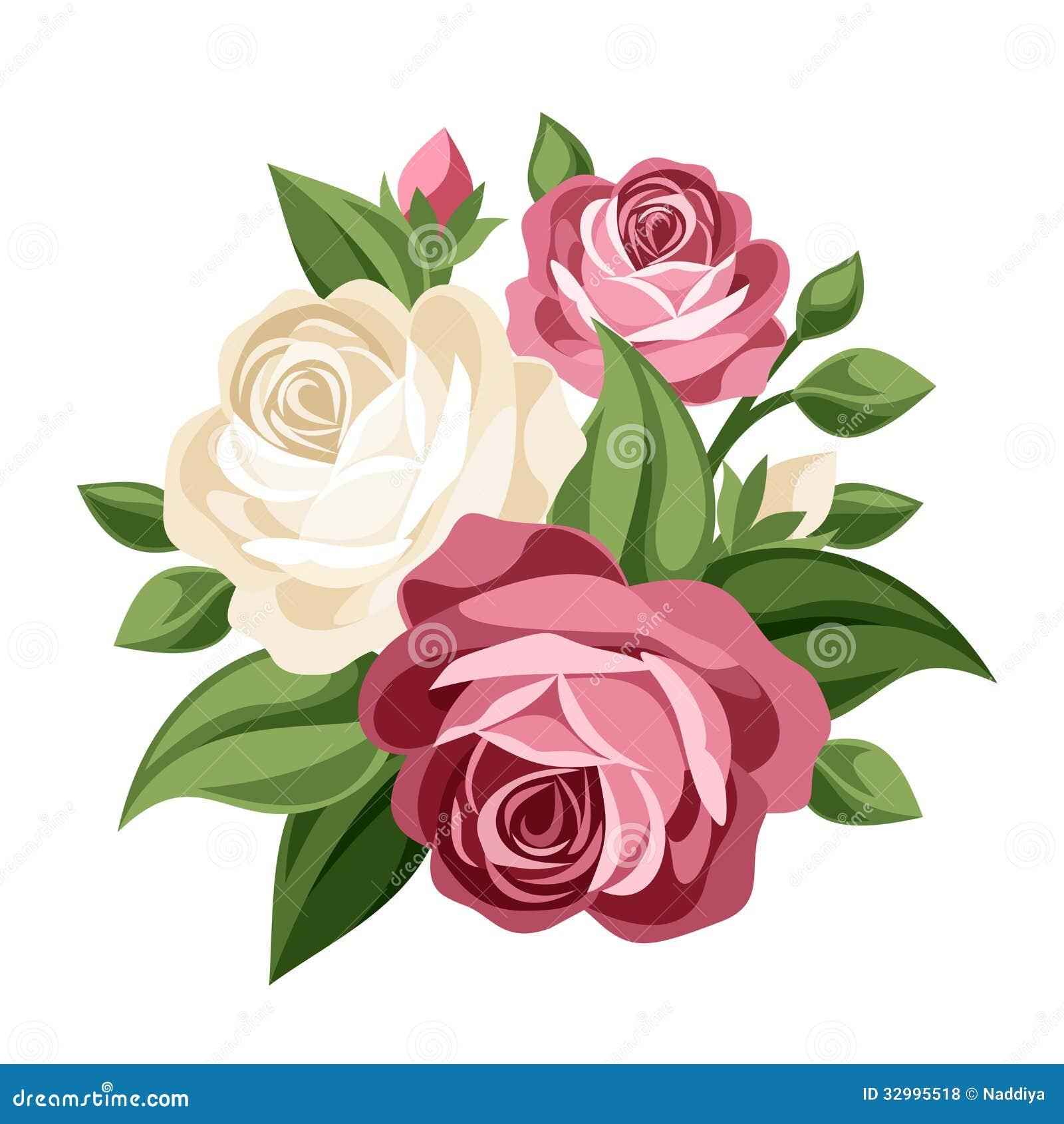 Ρόδινα και άσπρα εκλεκτής ποιότητας τριαντάφυλλα.