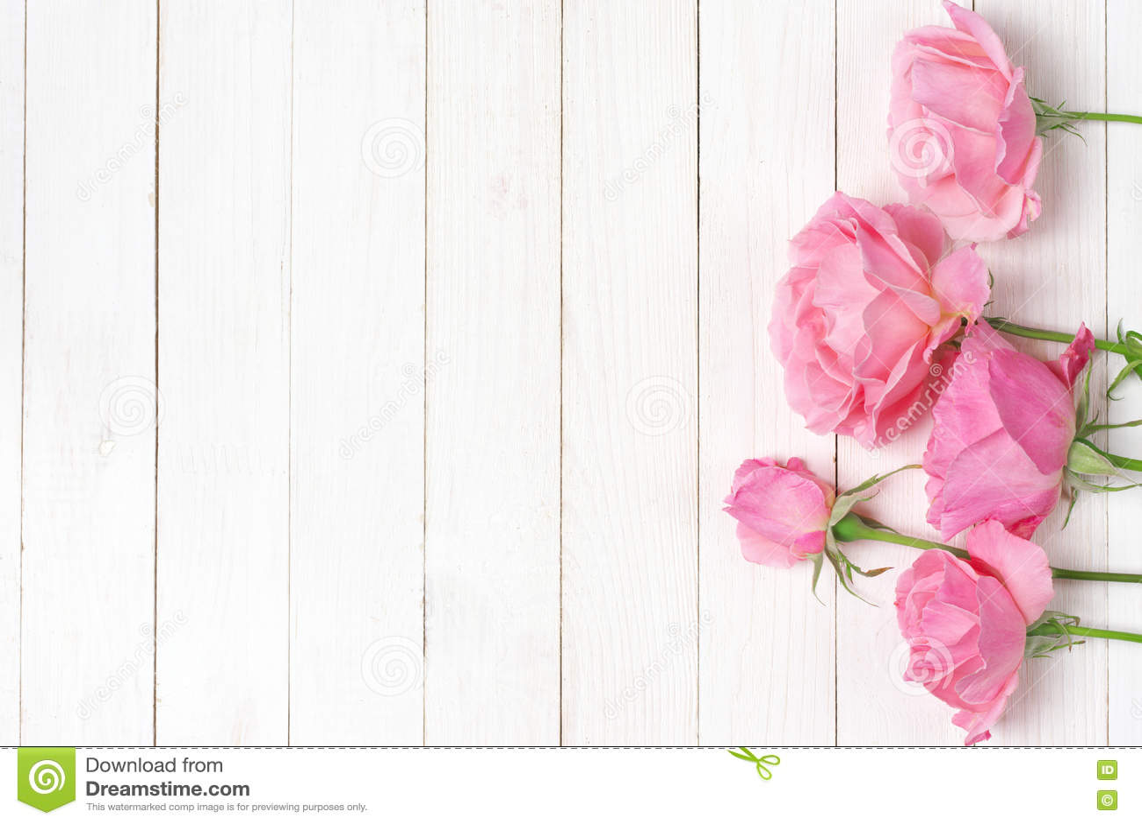Ρόδινα τριαντάφυλλα στο ξύλο