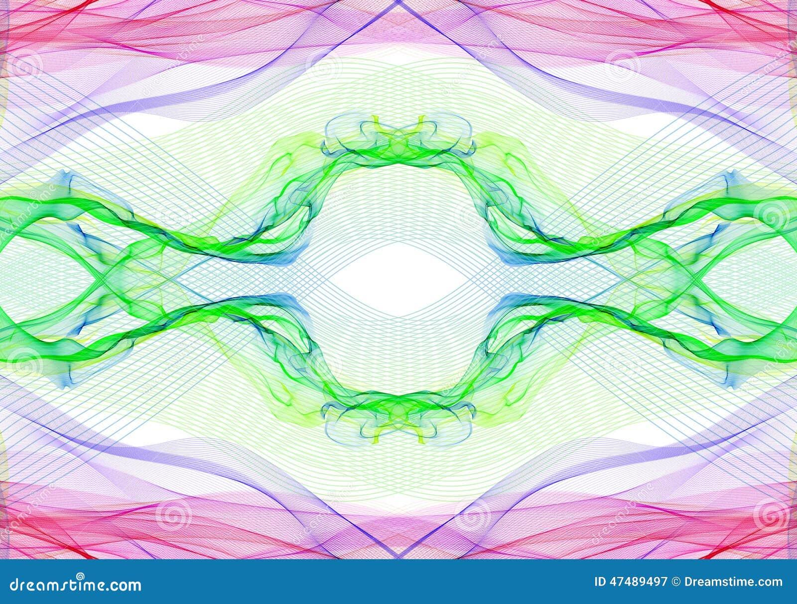 Ρόδινες πορφυρές πράσινες γραμμές ηλεκτρικής ενέργειας