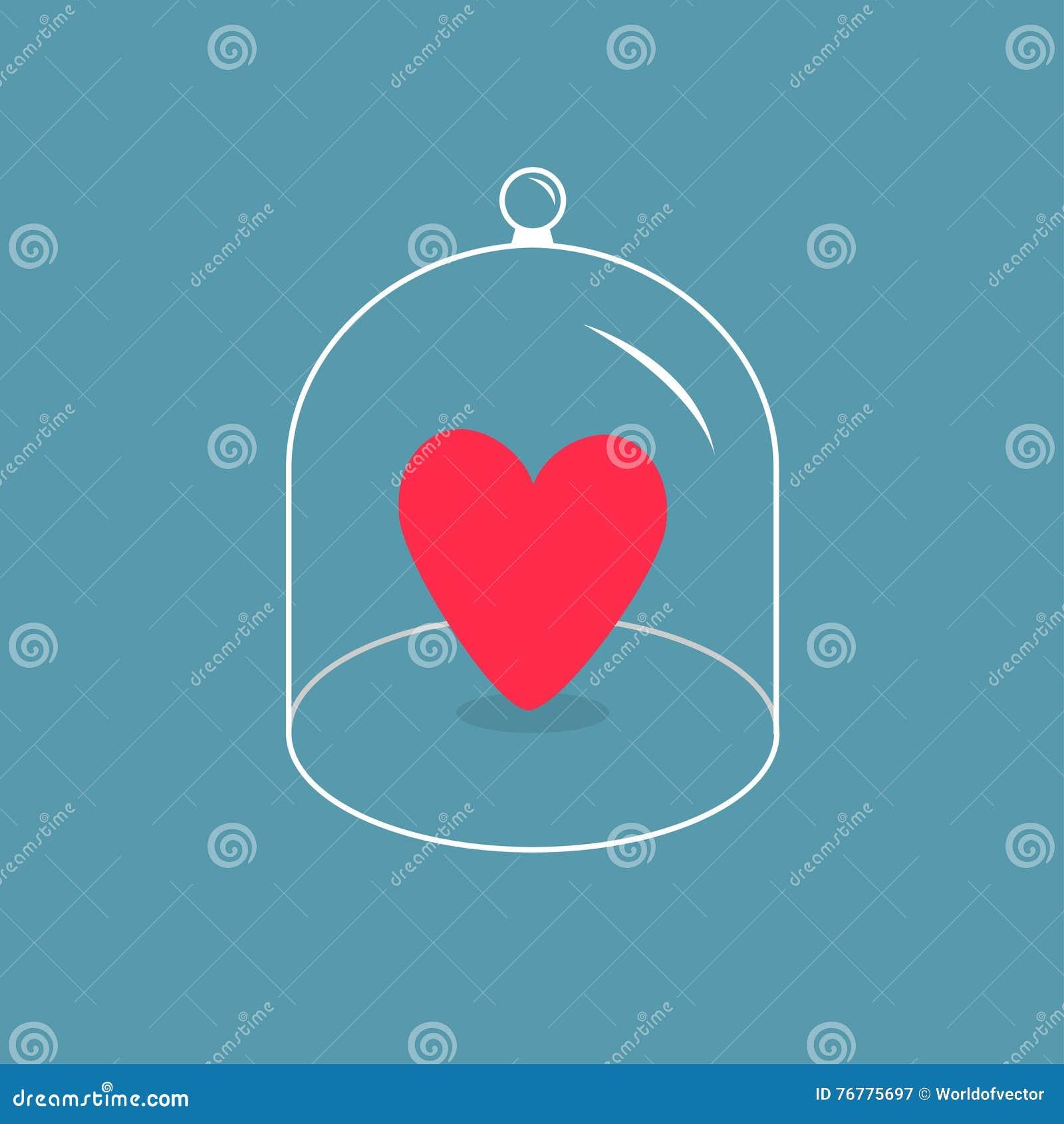 Ρόδινη καρδιά Κάλυψη ΚΑΠ κουδουνιών γυαλιού Μισός θόλος καπακιών σφαιρών με τη λαβή έγγραφο αγάπης καρτών ανασκόπησης grunge