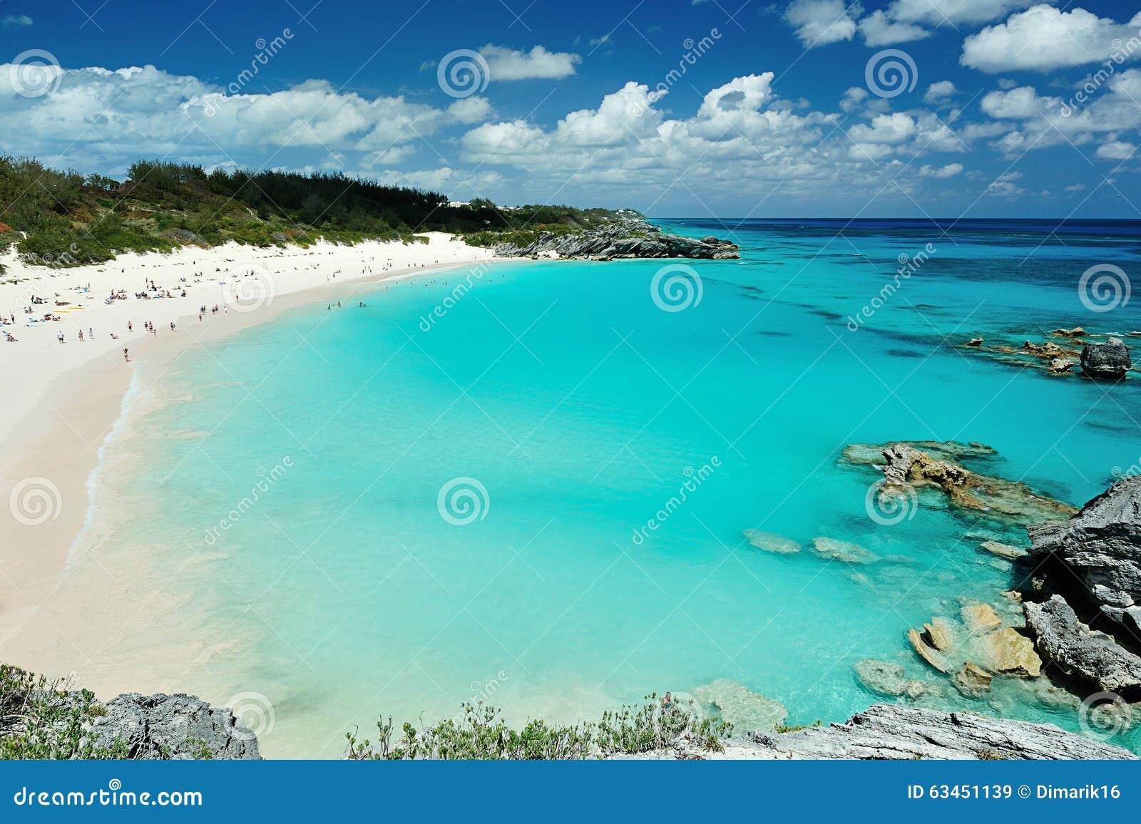Ρόδινη παραλία στα νησιά των Βερμούδων