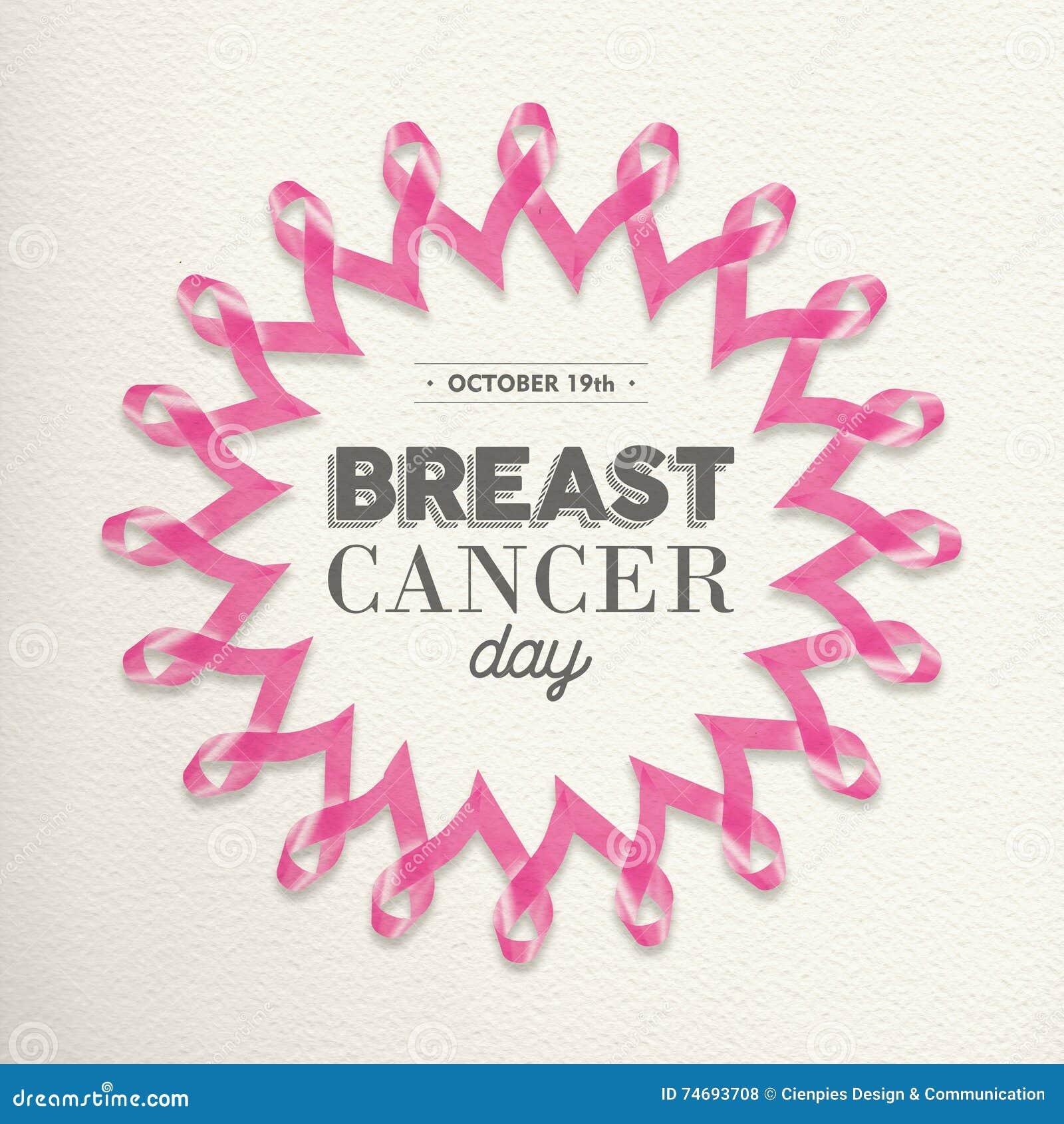 Ρόδινο σχέδιο κορδελλών ημέρας καρκίνου του μαστού για την υποστήριξη