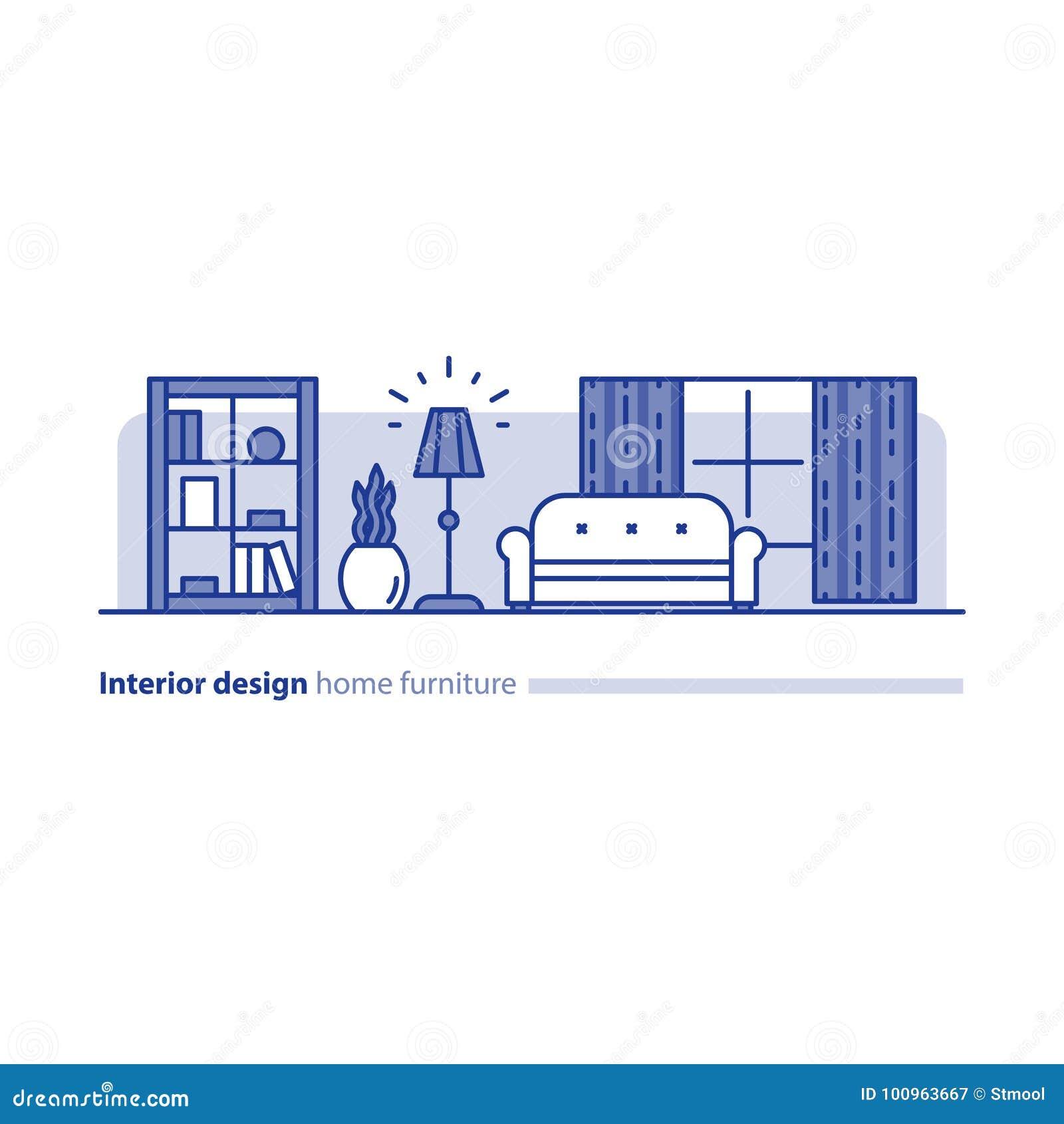 Ρύθμιση επίπλων στο καθιστικό, έννοια απλότητας, άνετο σπίτι, σύγχρονο εσωτερικό σχέδιο