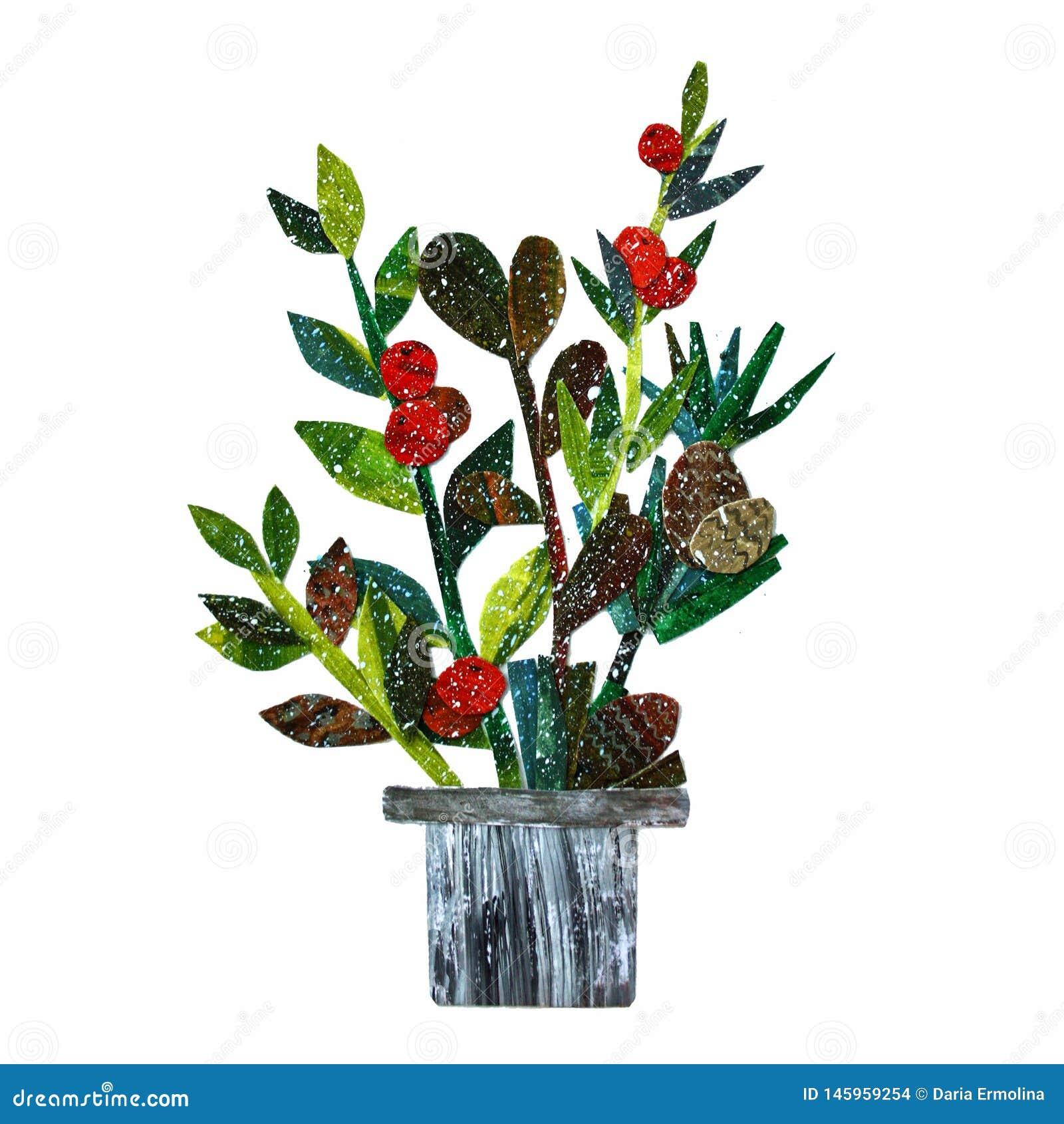 Ρύθμιση λουλουδιών κολάζ