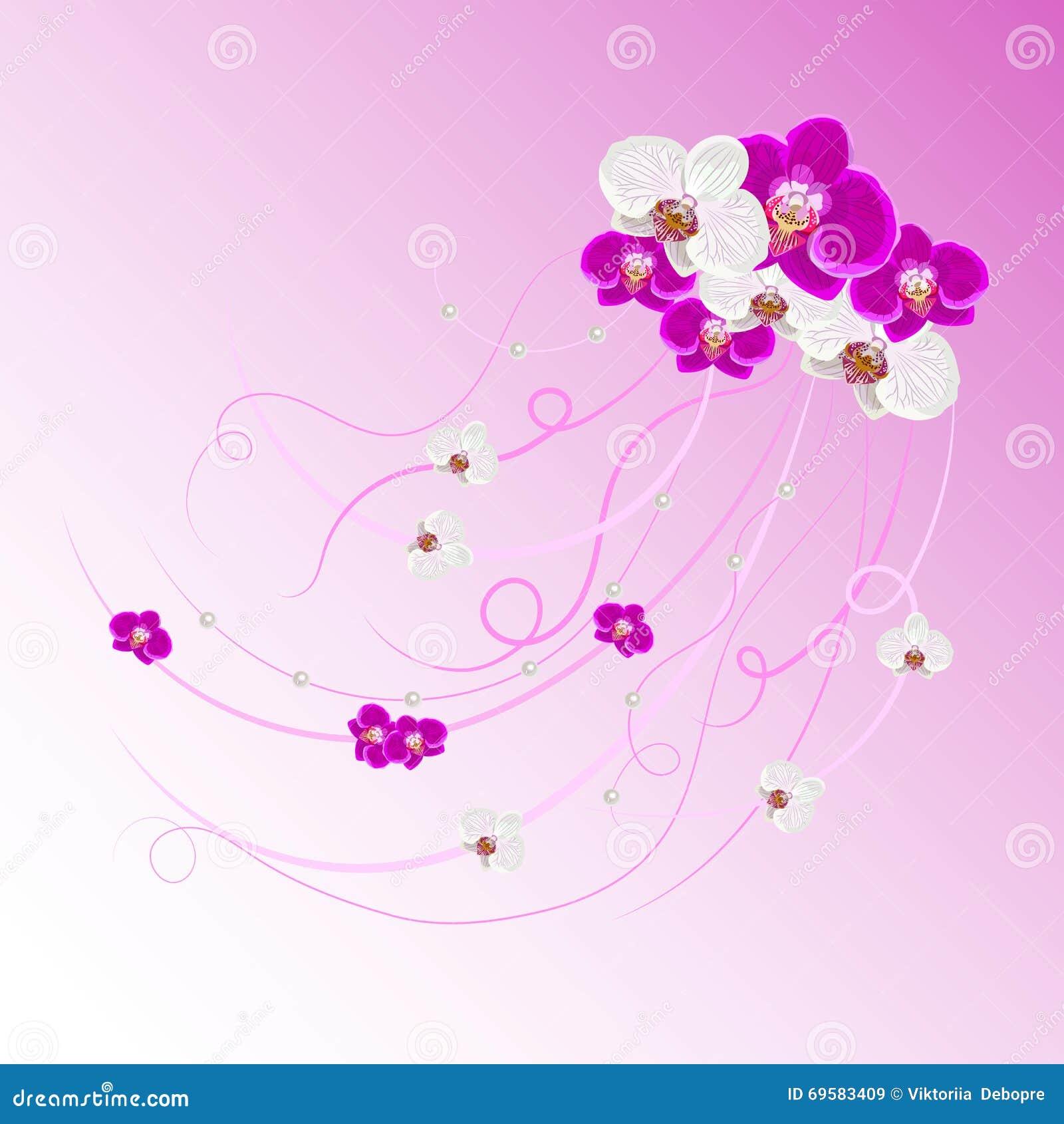 Ρύθμιση των λουλουδιών και των μαργαριταριών ορχιδεών